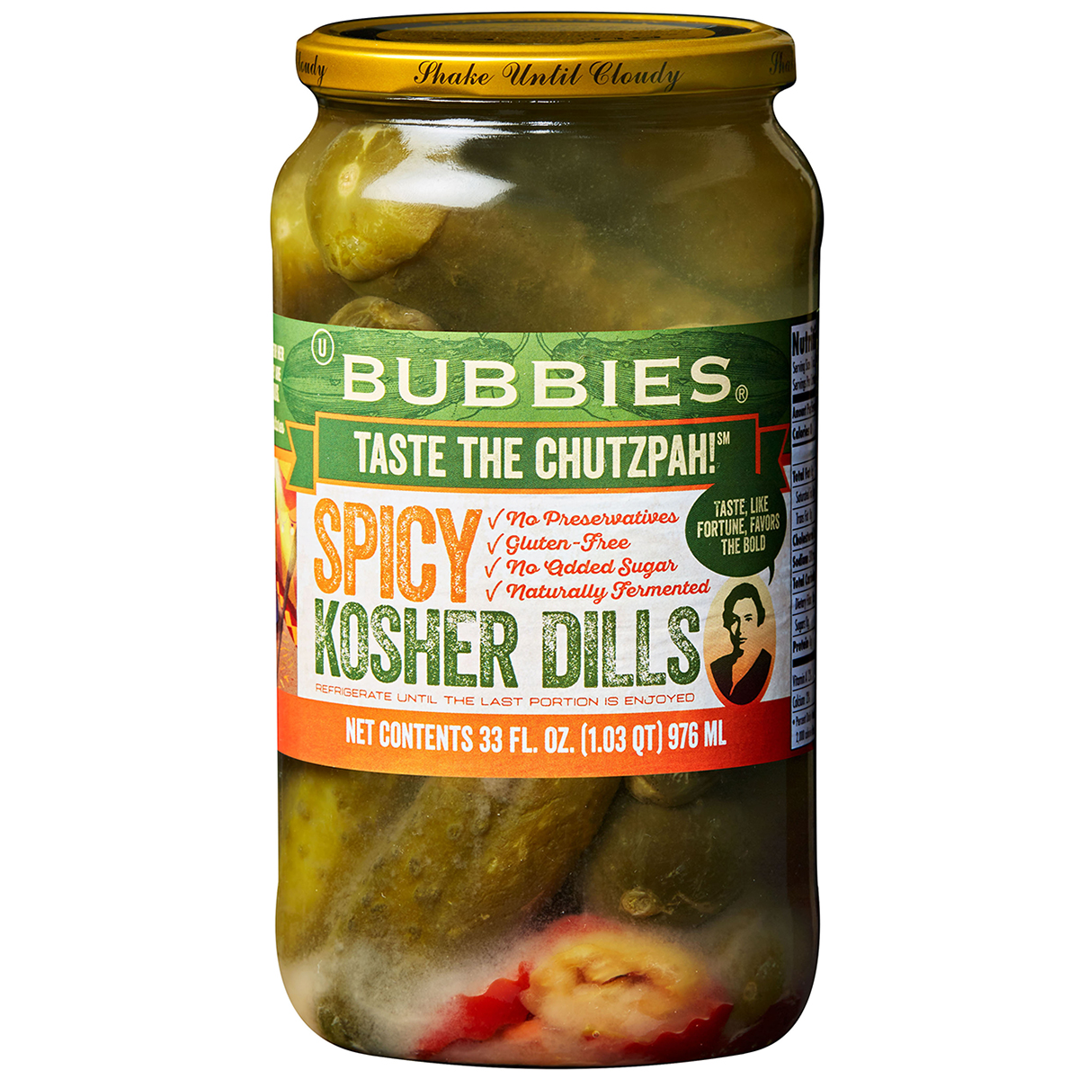 bubbies spicy kosher dill pickles