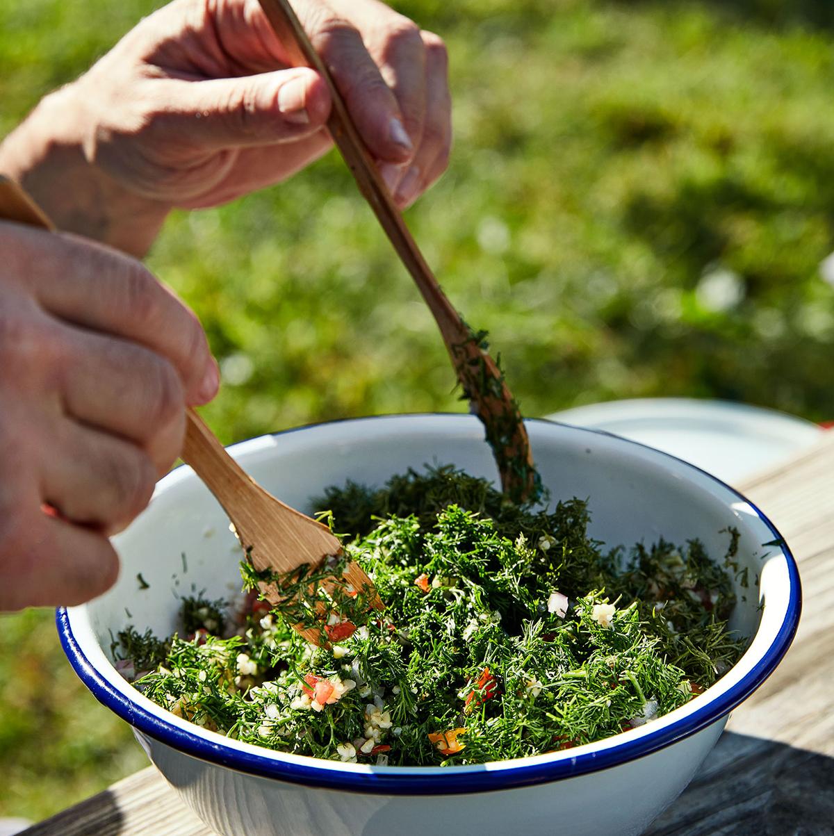 Dill Tabbouleh Salad Recipe