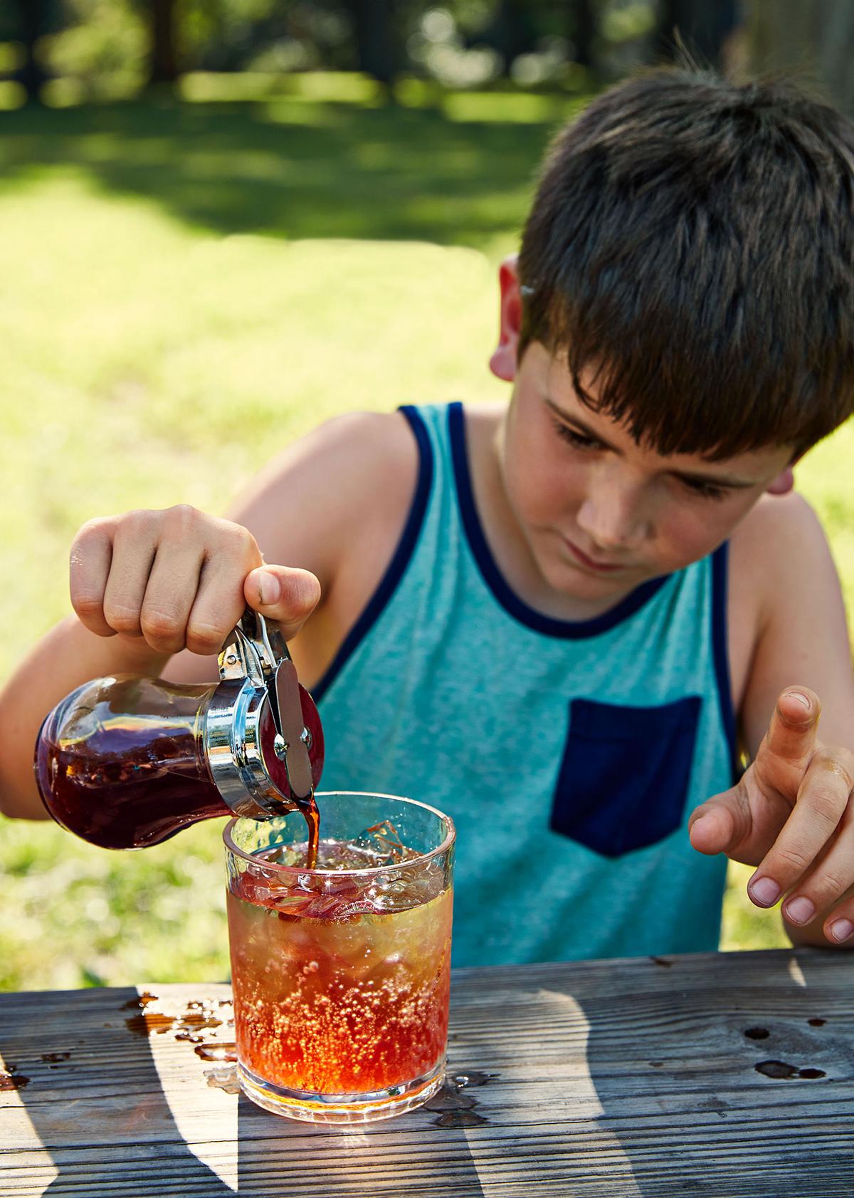 DIY Pomegranate-Mint Sodas Recipe