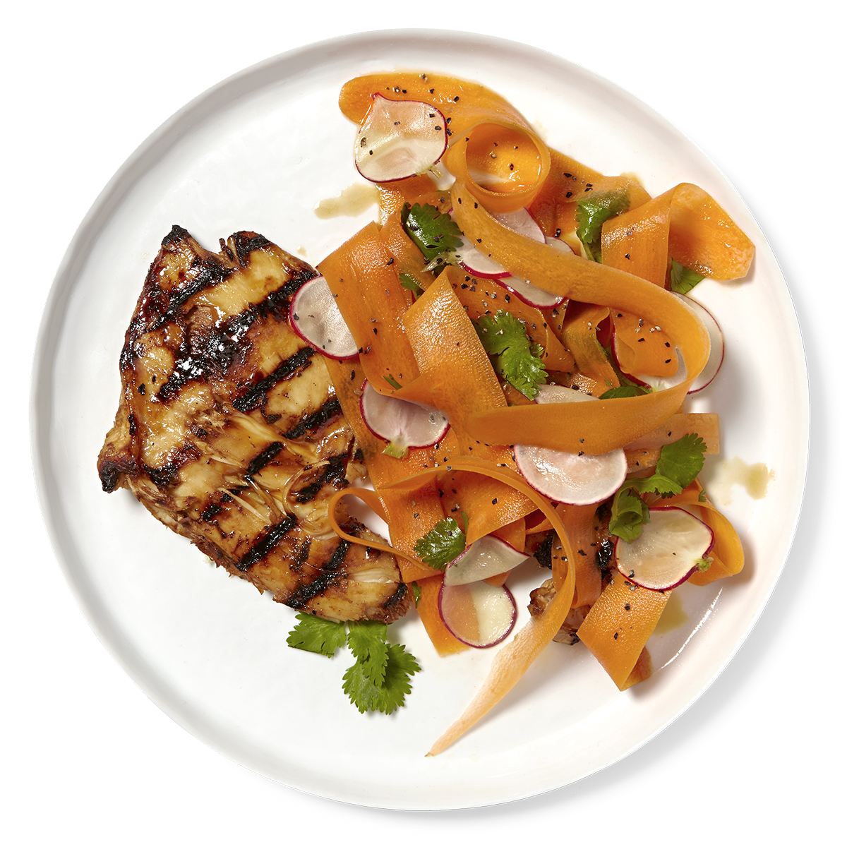 Grilled Chicken with Carrot-Ginger Salad
