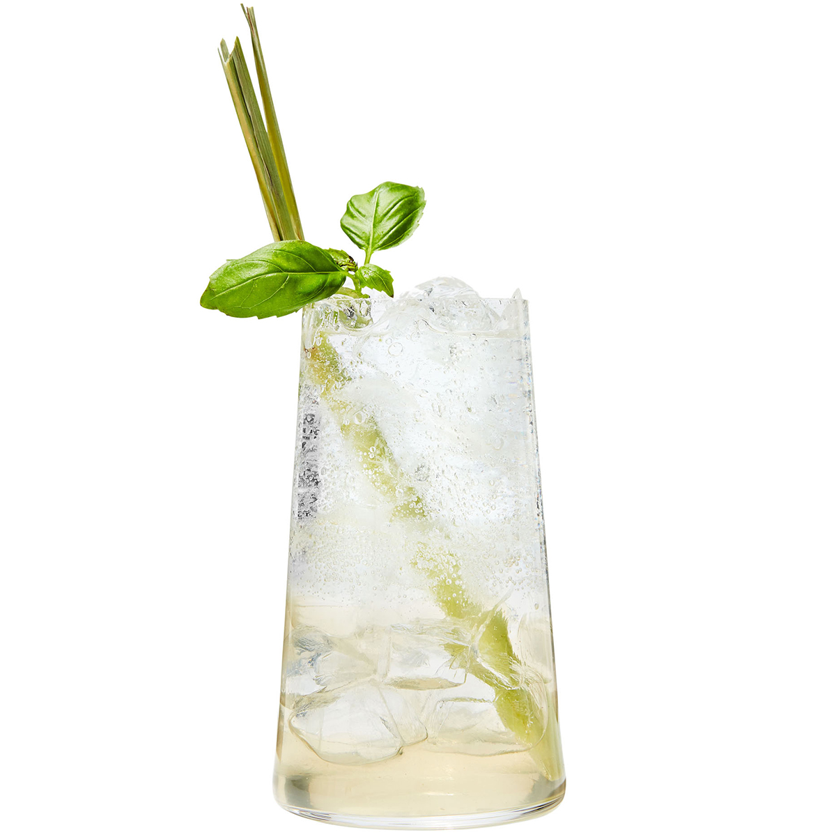 lemongrass and basil soda