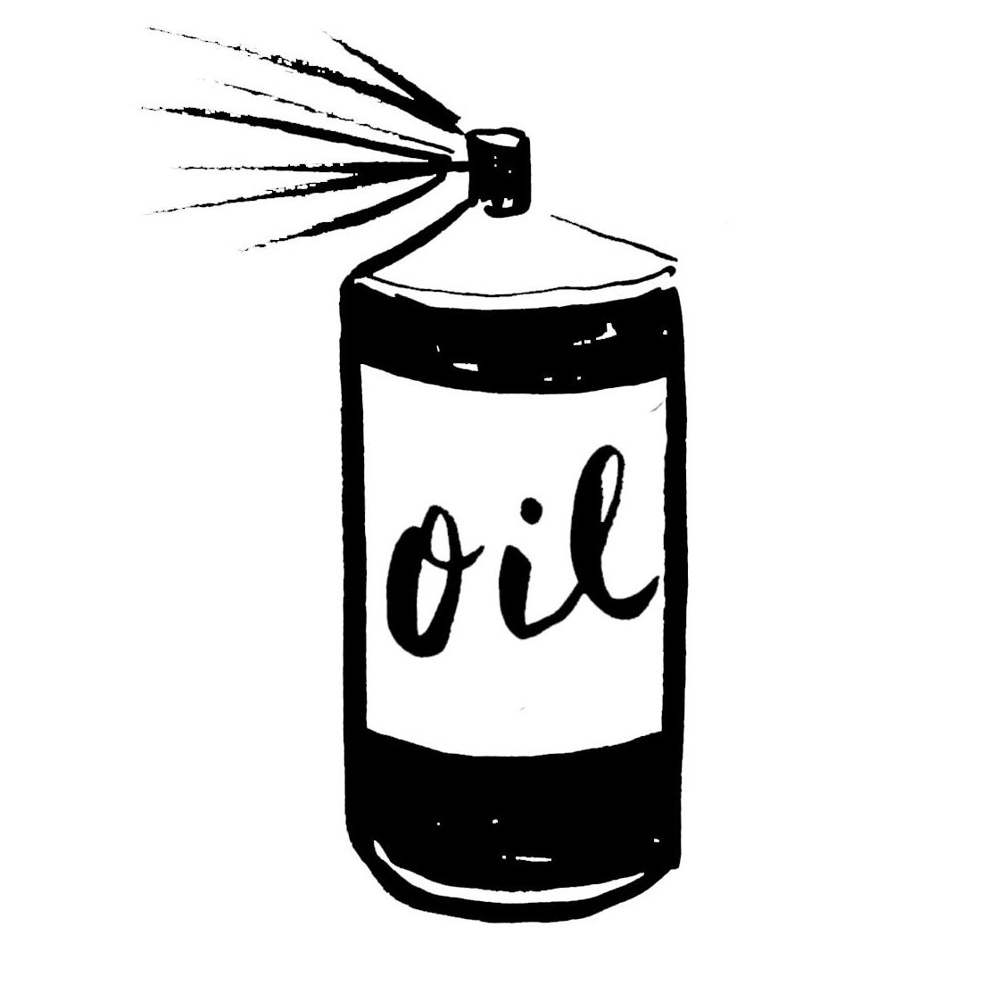 oil spray illustration