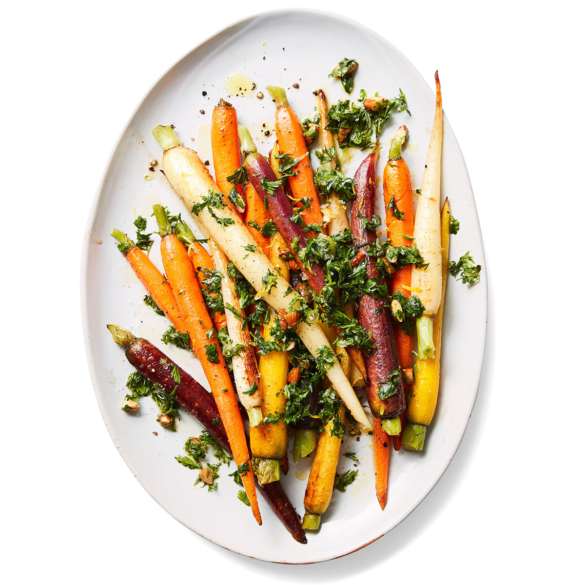 pan-roasted carrots with carrot top gremolata