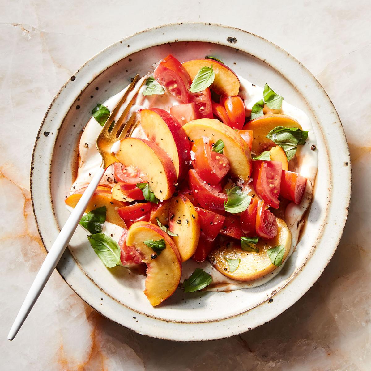 Tomato & Peach Salad
