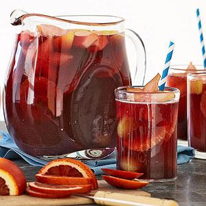 Sparkling Pomegranate Sangria Mocktail