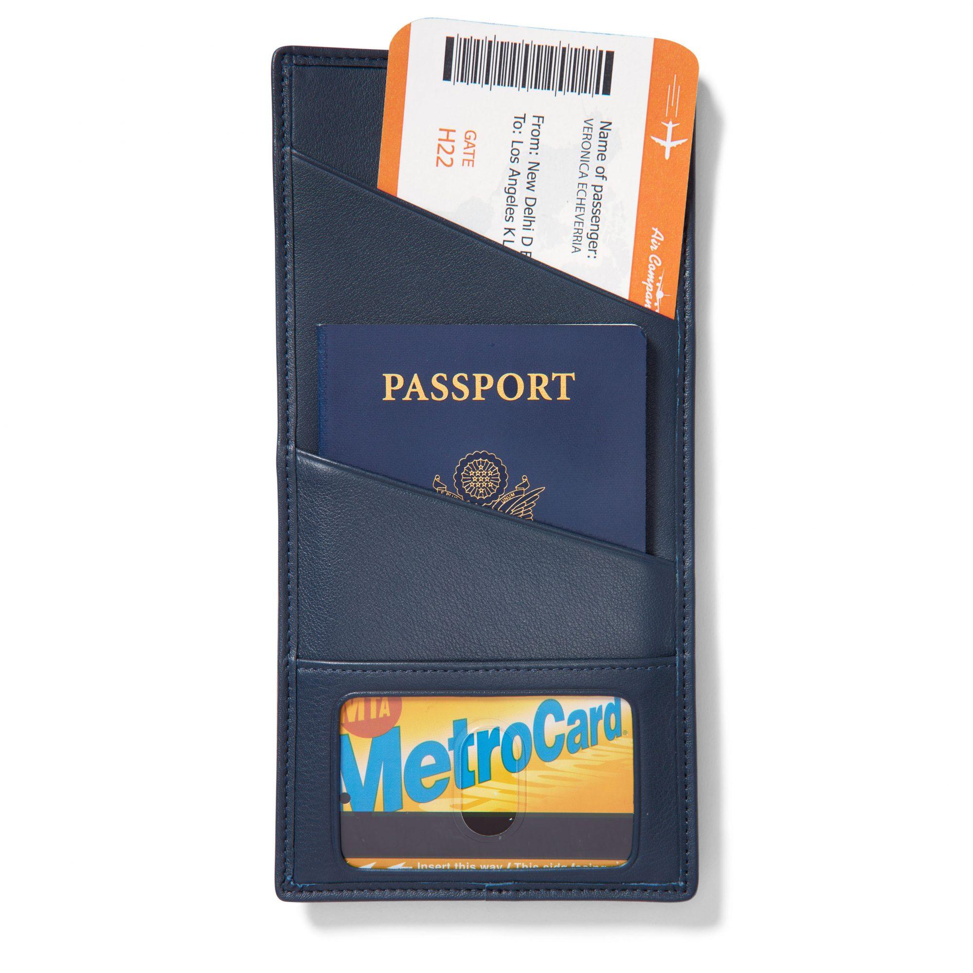 slim passport card holder