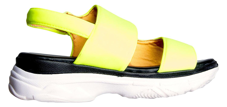 Akira neon yellow Vaycay Vibes Flat Sandals