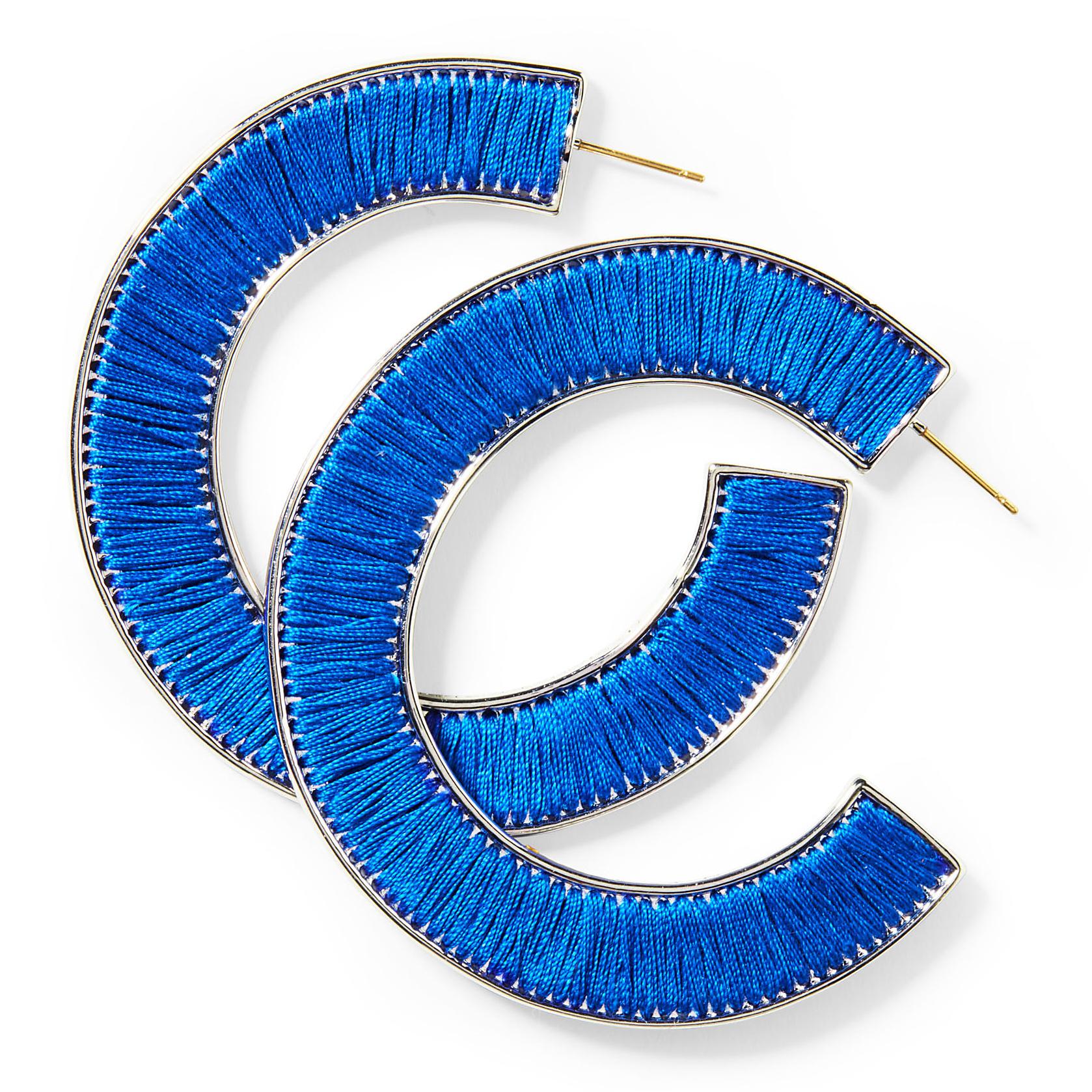 Mignonne Gavigan Fiona Hoops neon blue