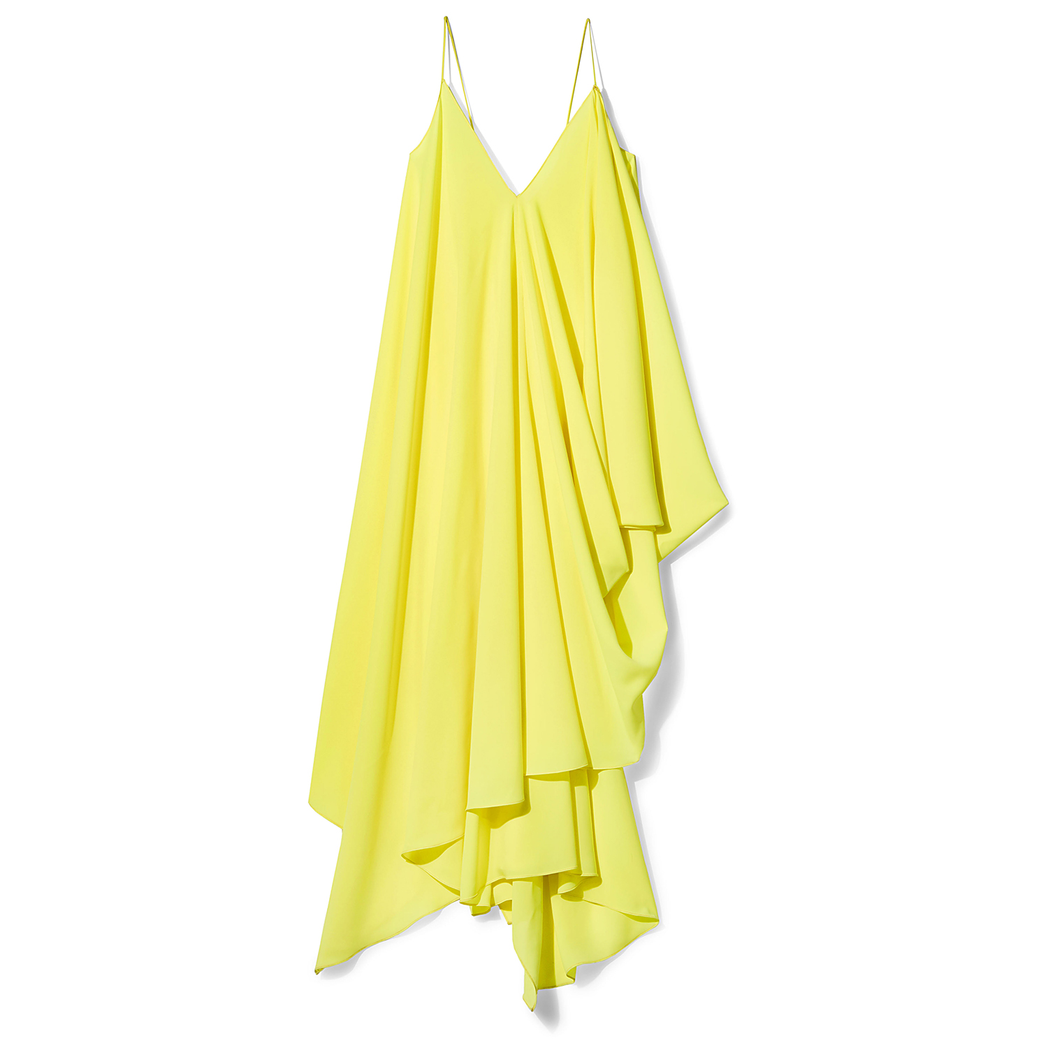 Milly neon yellow Ally Bustle Dress