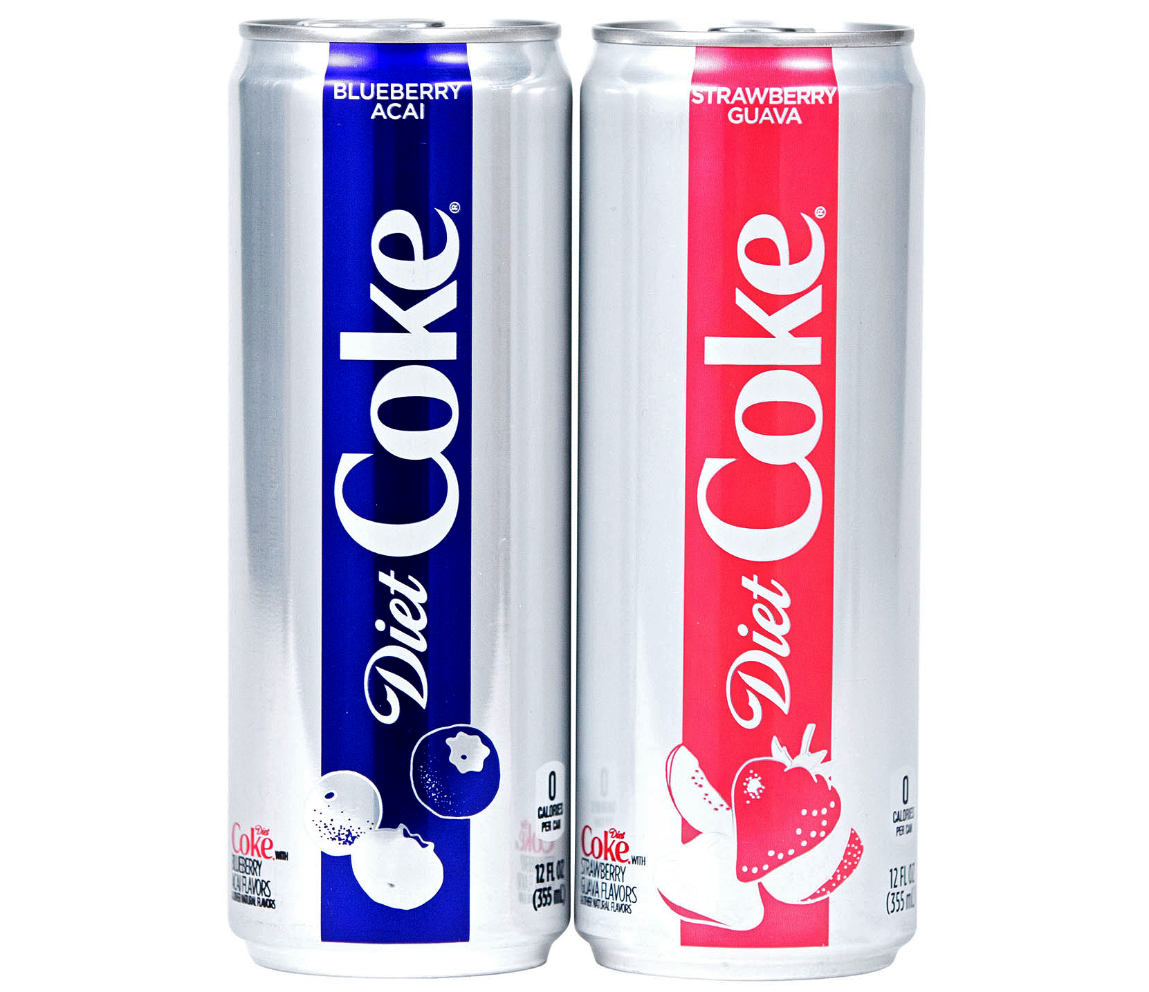 stwarberry guava and blueberry acai diet coke