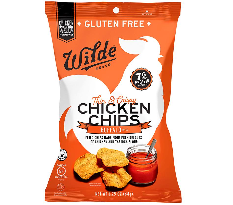 wilde brand thin and crispy buffalo chicken chips