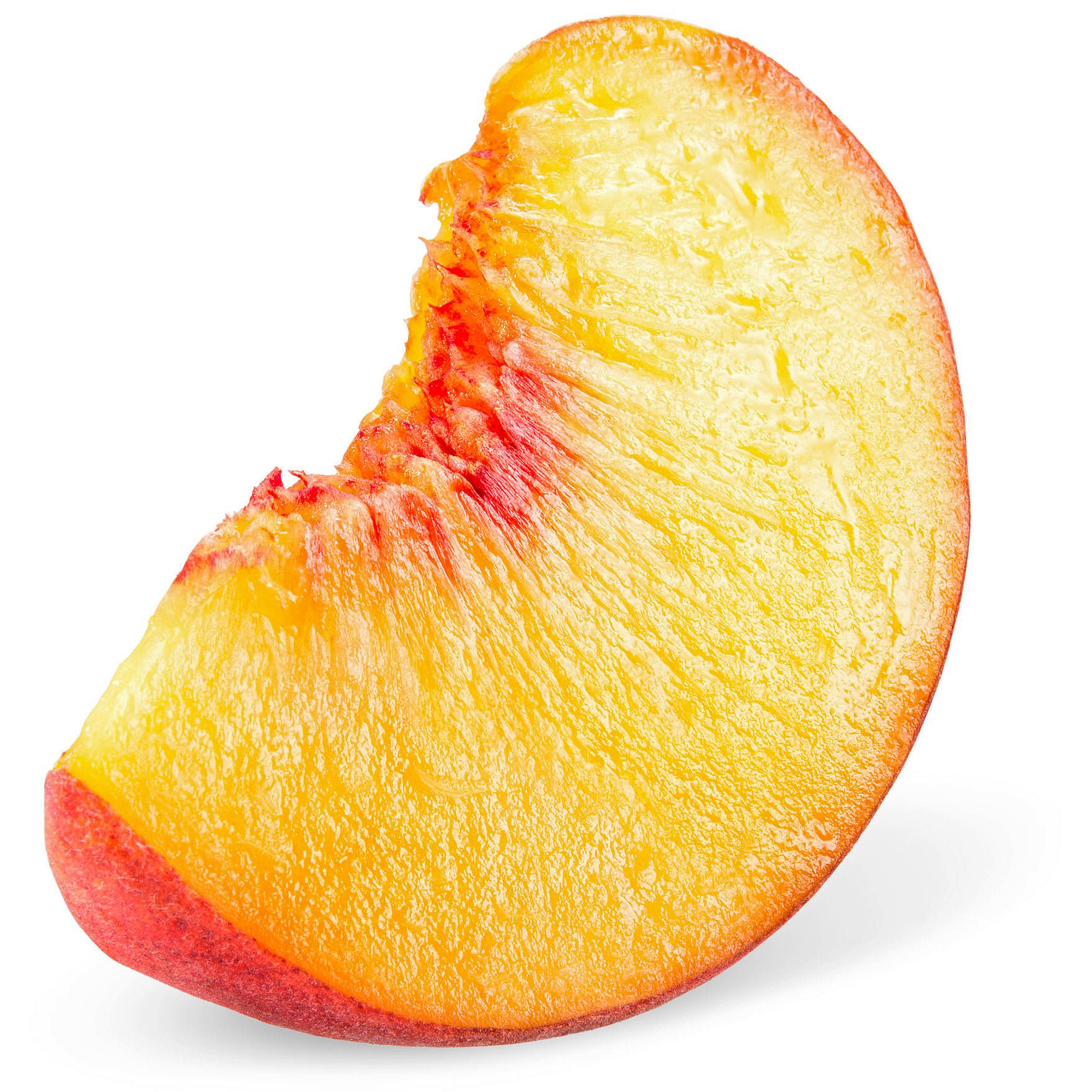 detail of peach slice