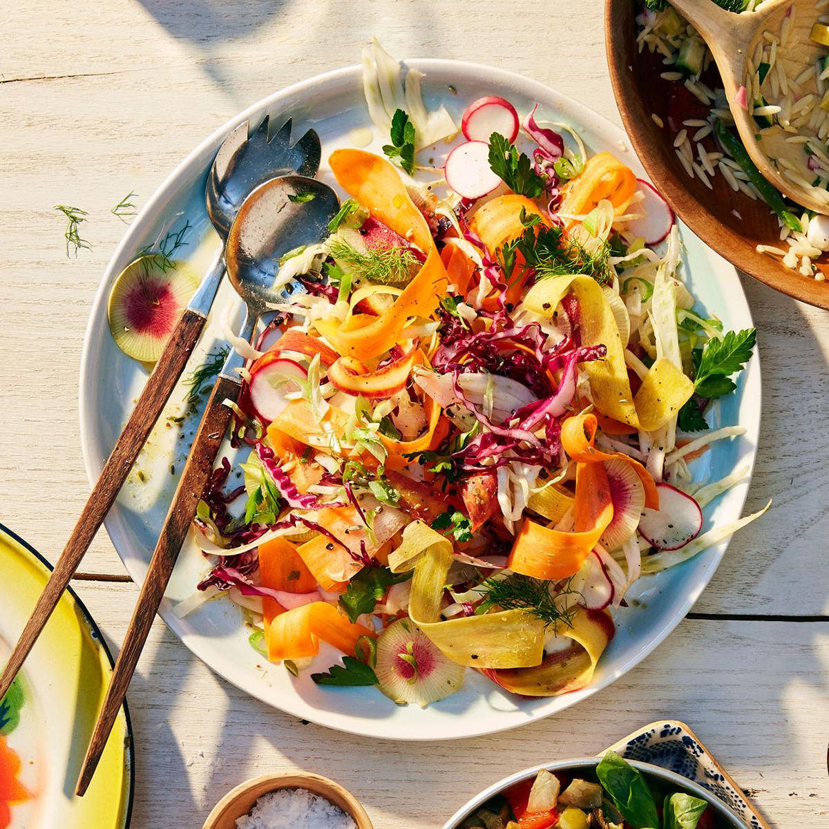 Shaved-Veggie Salad