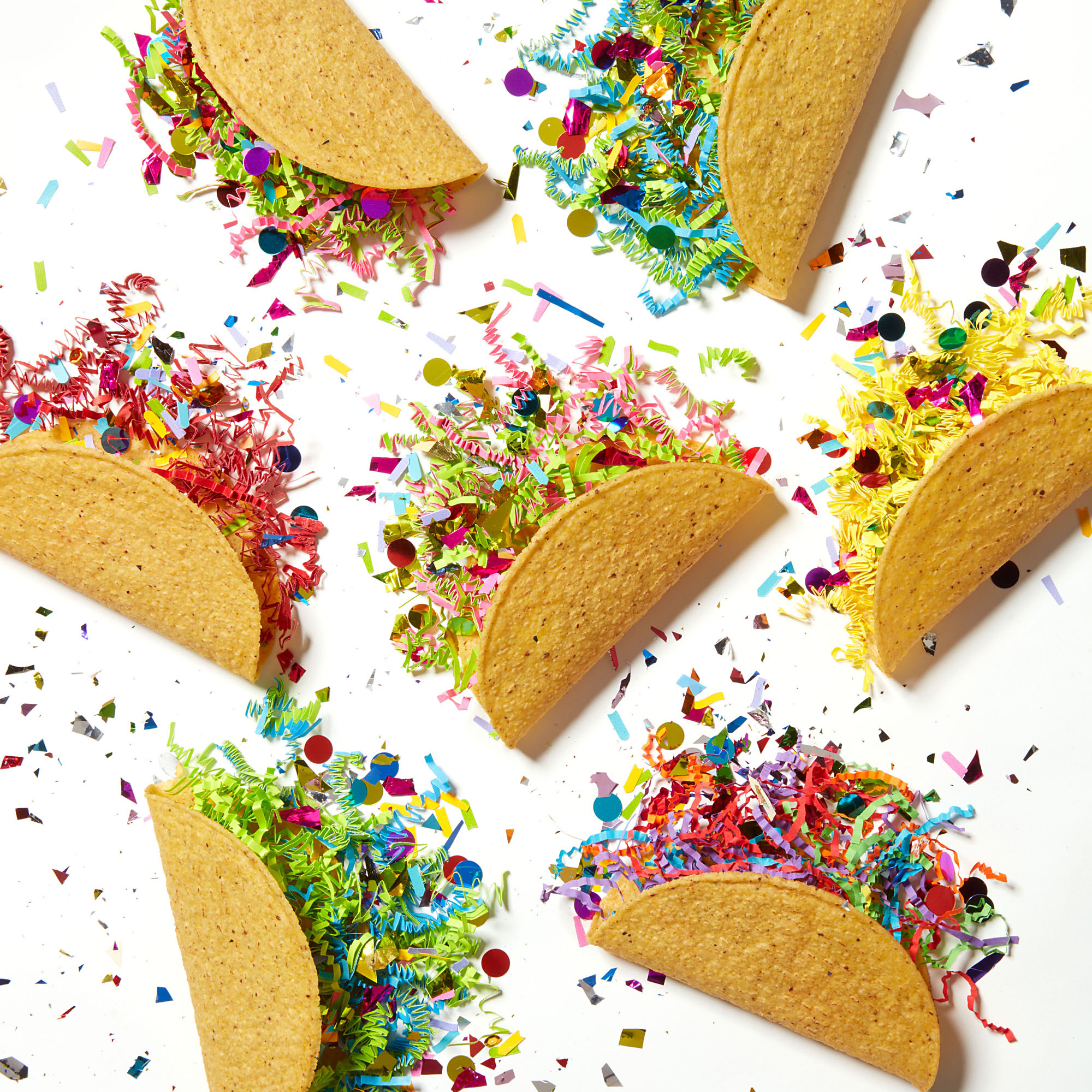 tacos filled with confetti