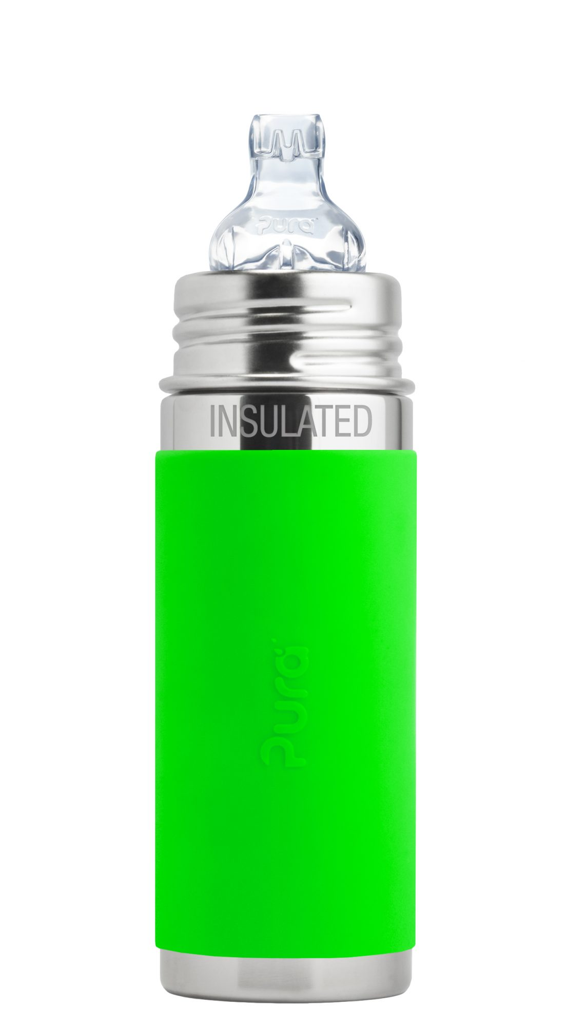 Pura-9oz-Insulated-Sippy Cup-Green (1)