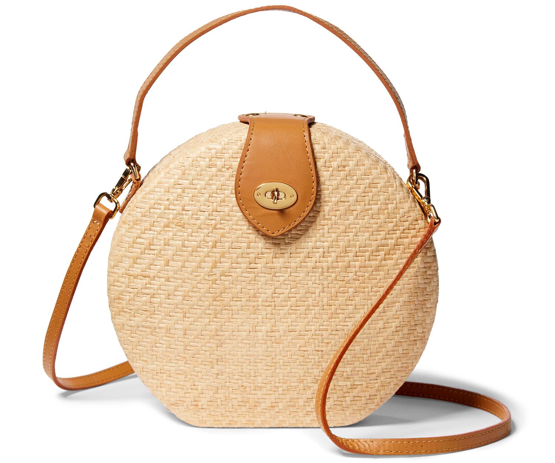 round straw kayu peyton bag