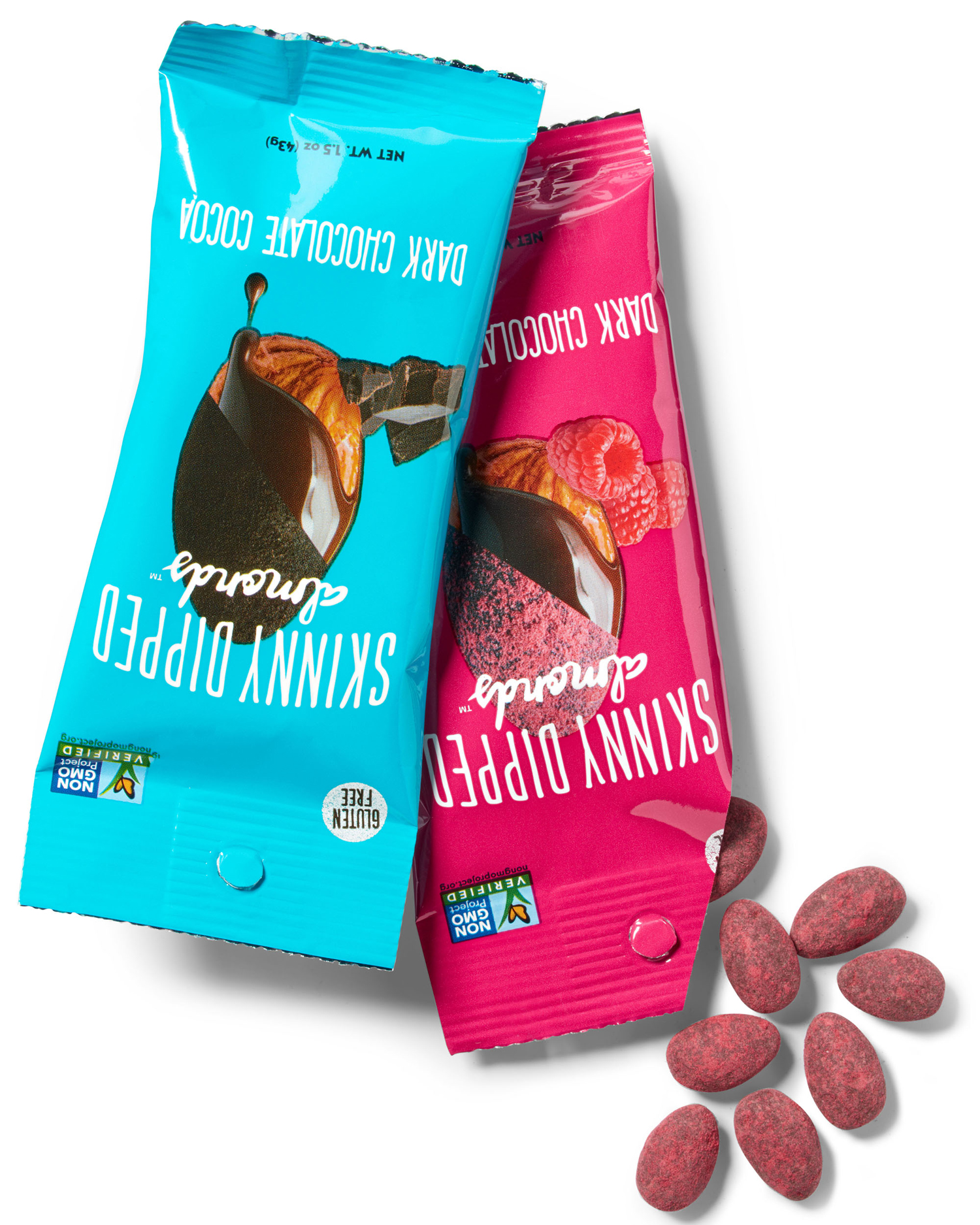 skinny flavor-dipped almonds