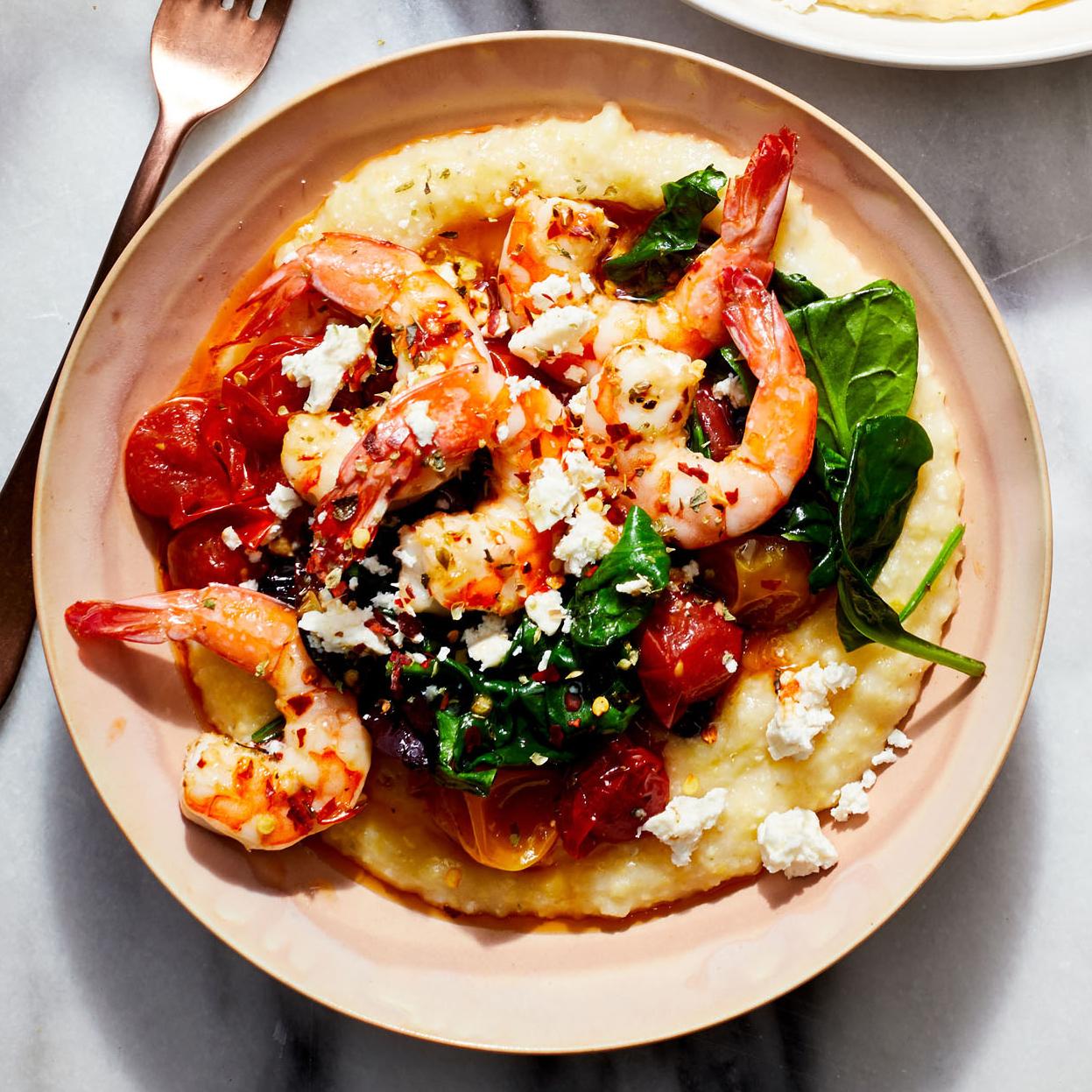 Greek Shrimp and Grits