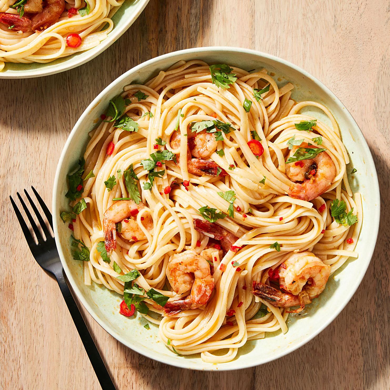 Red Curry Shrimp Linguine