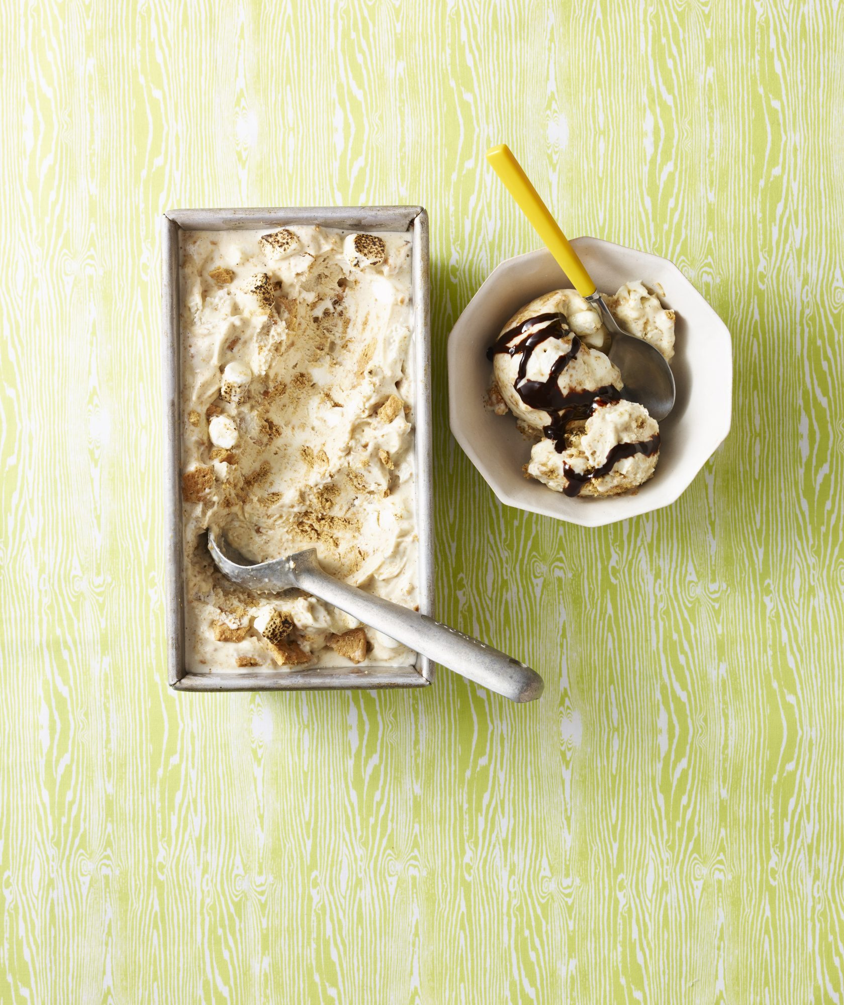 Malted S'mores Ice Cream