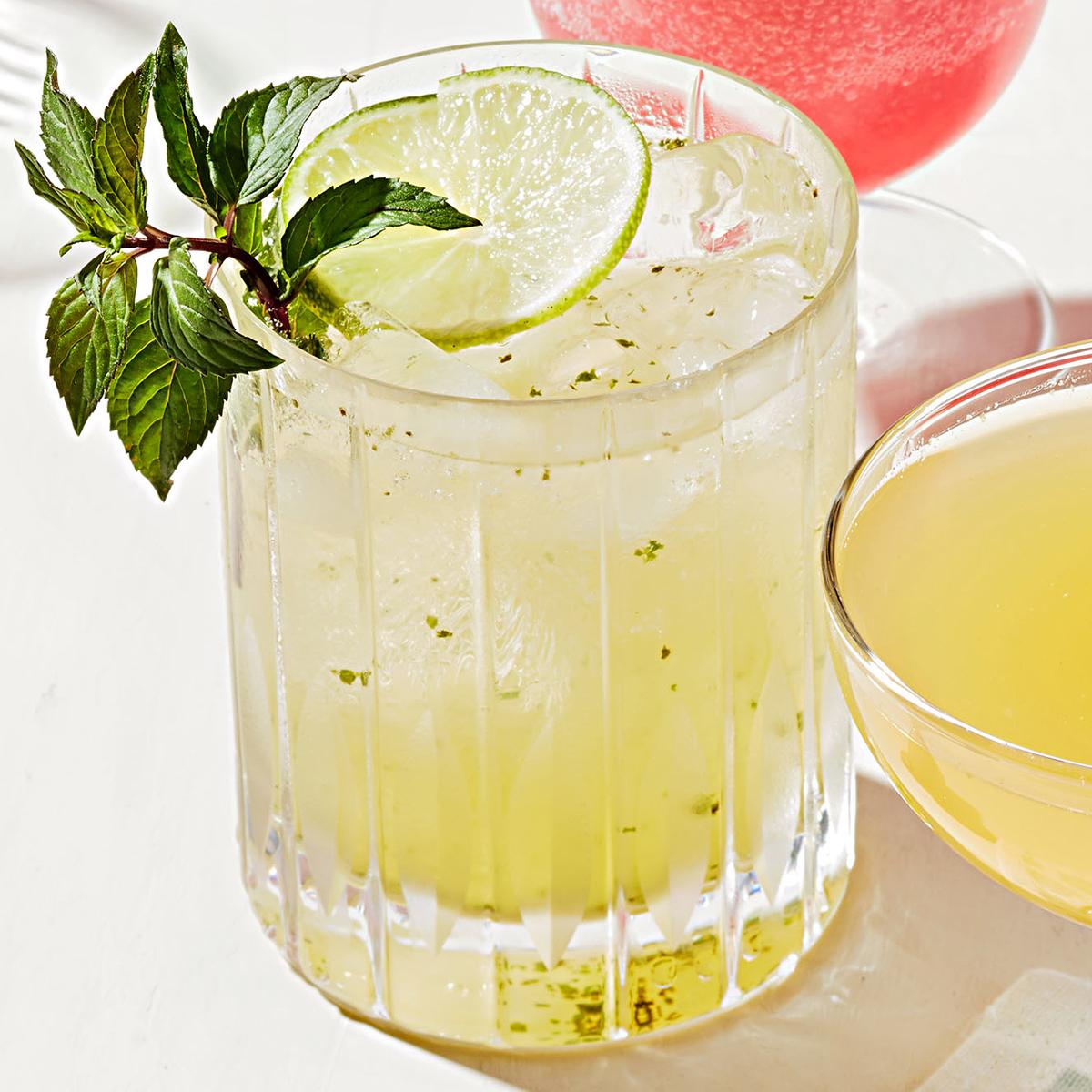 sparkling tequila gimlet