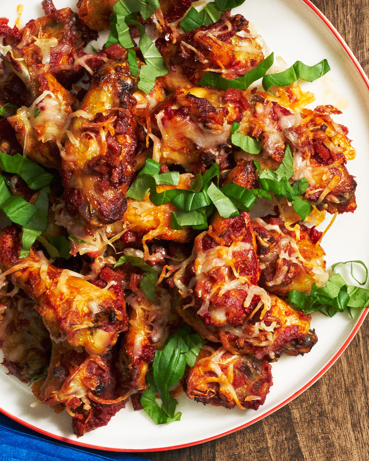 Pepperoni Pizza Baked Wings