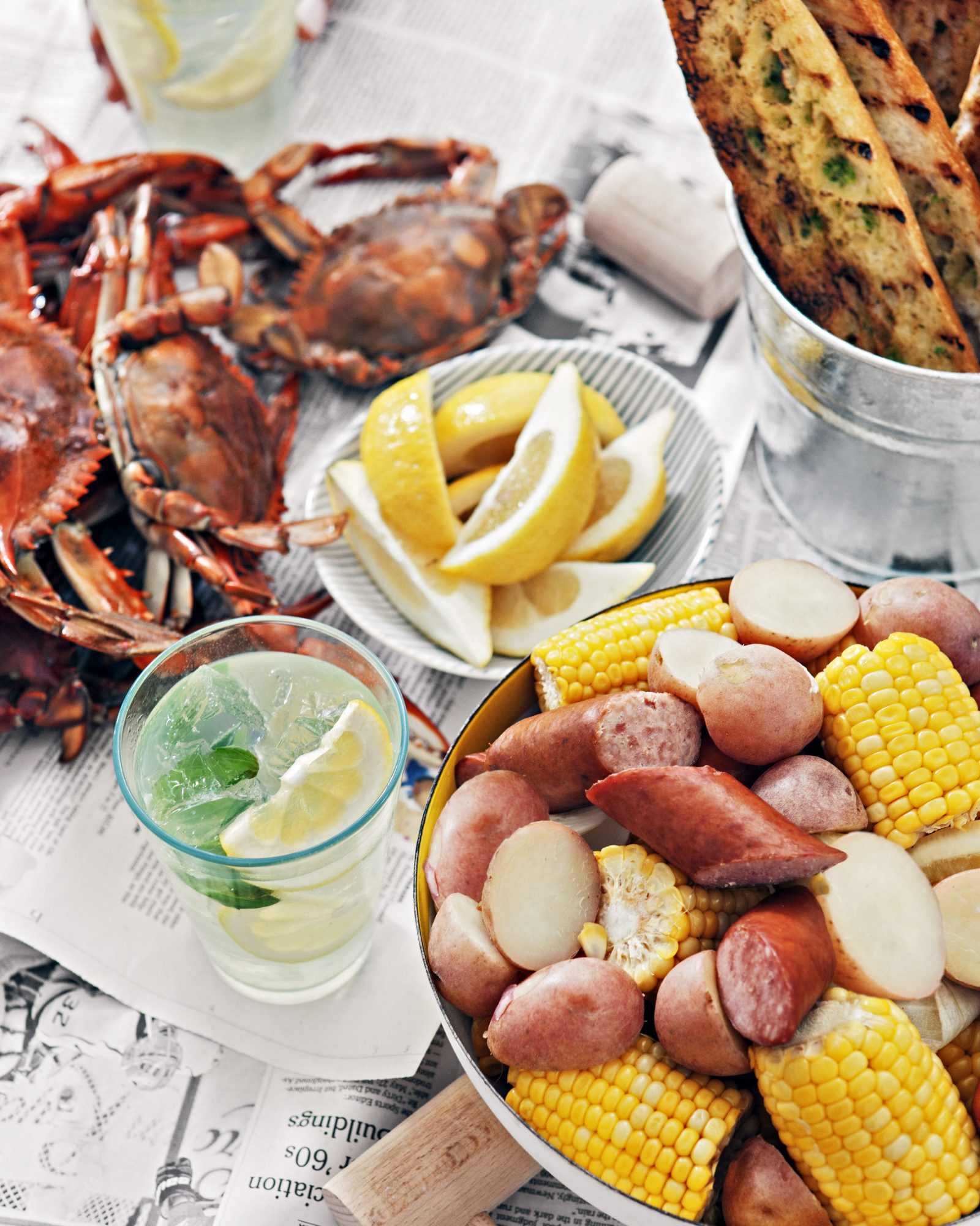 Maryland Blue Crab Boil with Beer & Old Bay