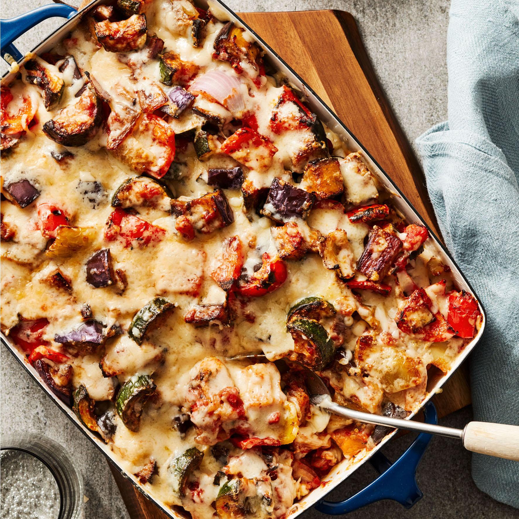 ratatouille and garlic bread casserole