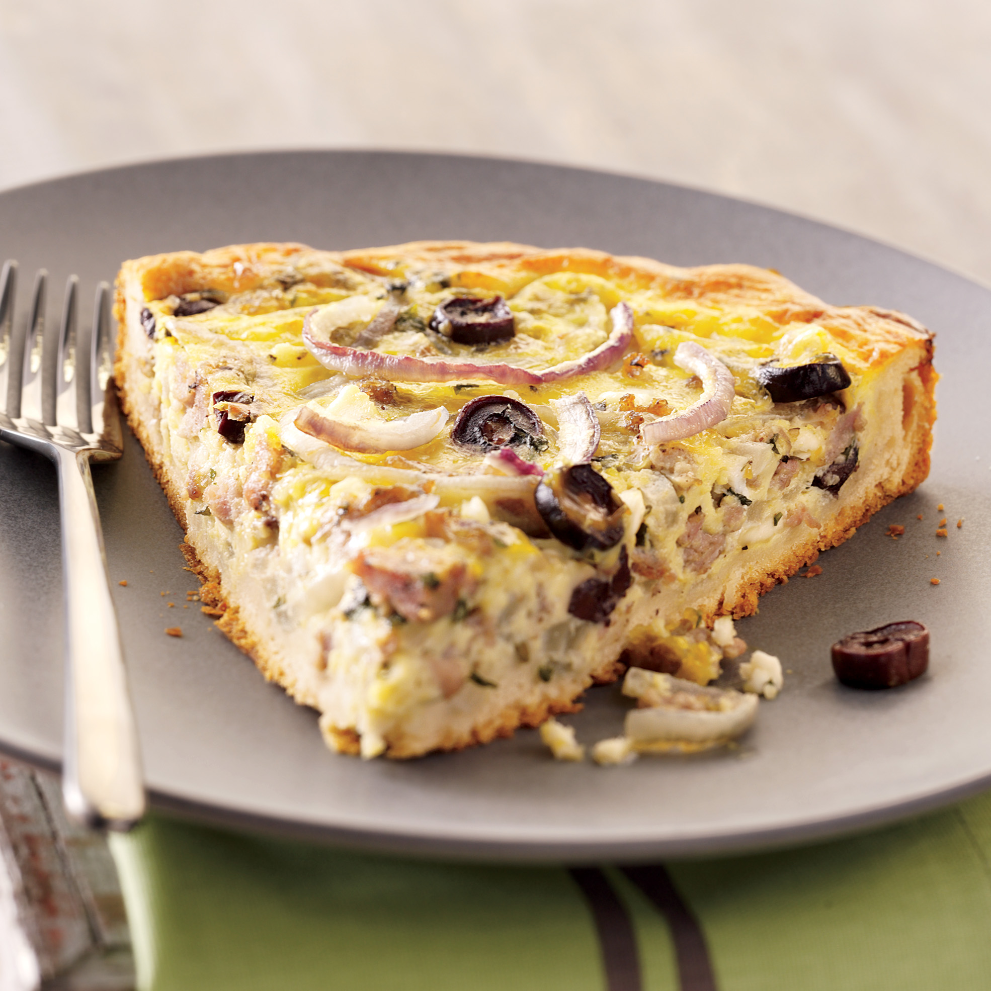 Biscuit-Crusted Sausage-Egg Pie