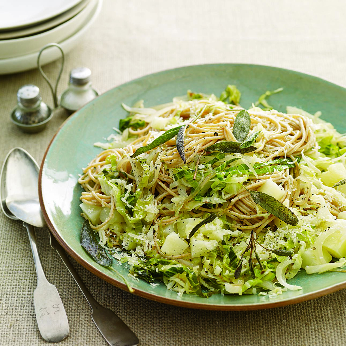 cabbage and hay spaghetti