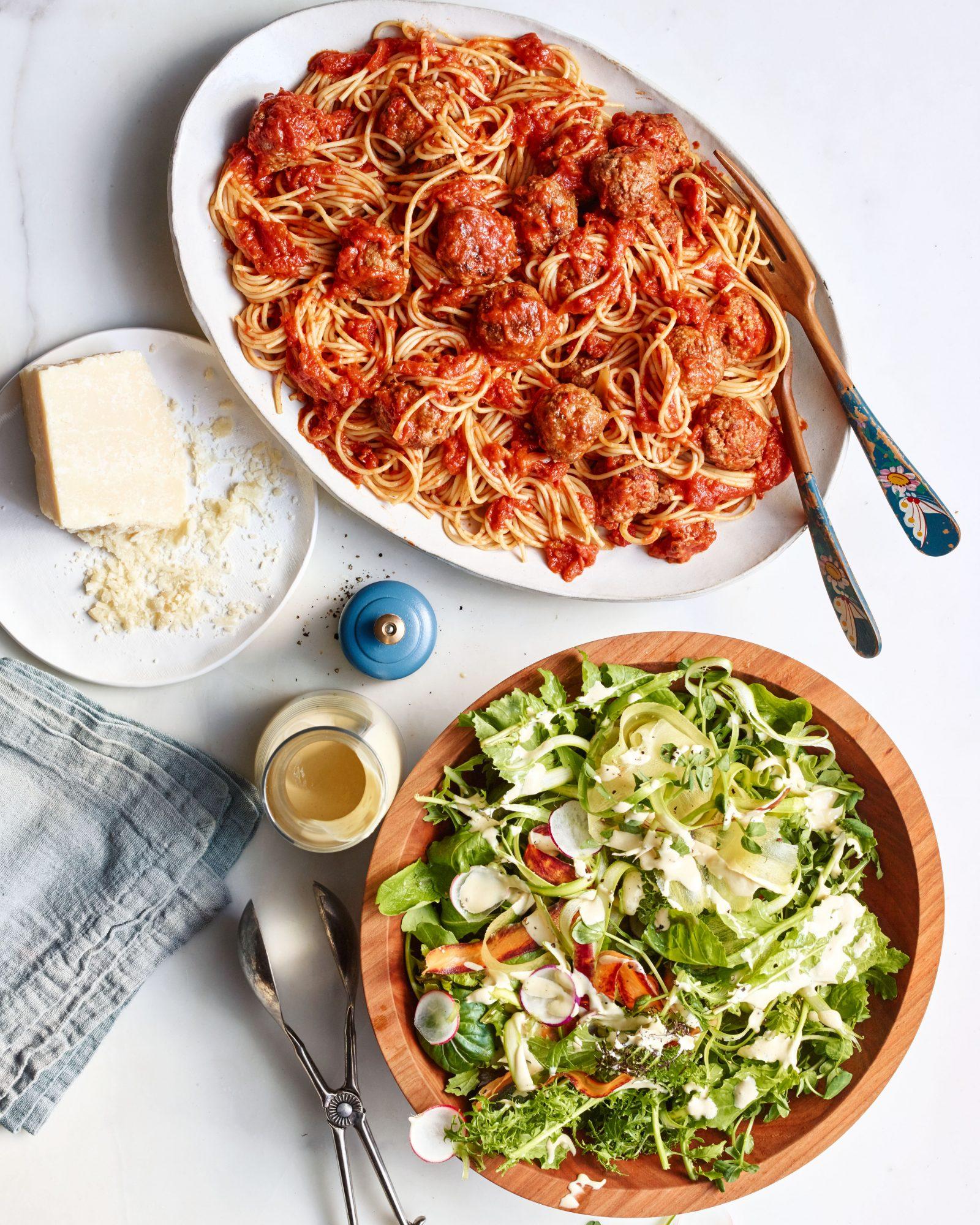 Spaghetti with Make-Ahead Meatballs