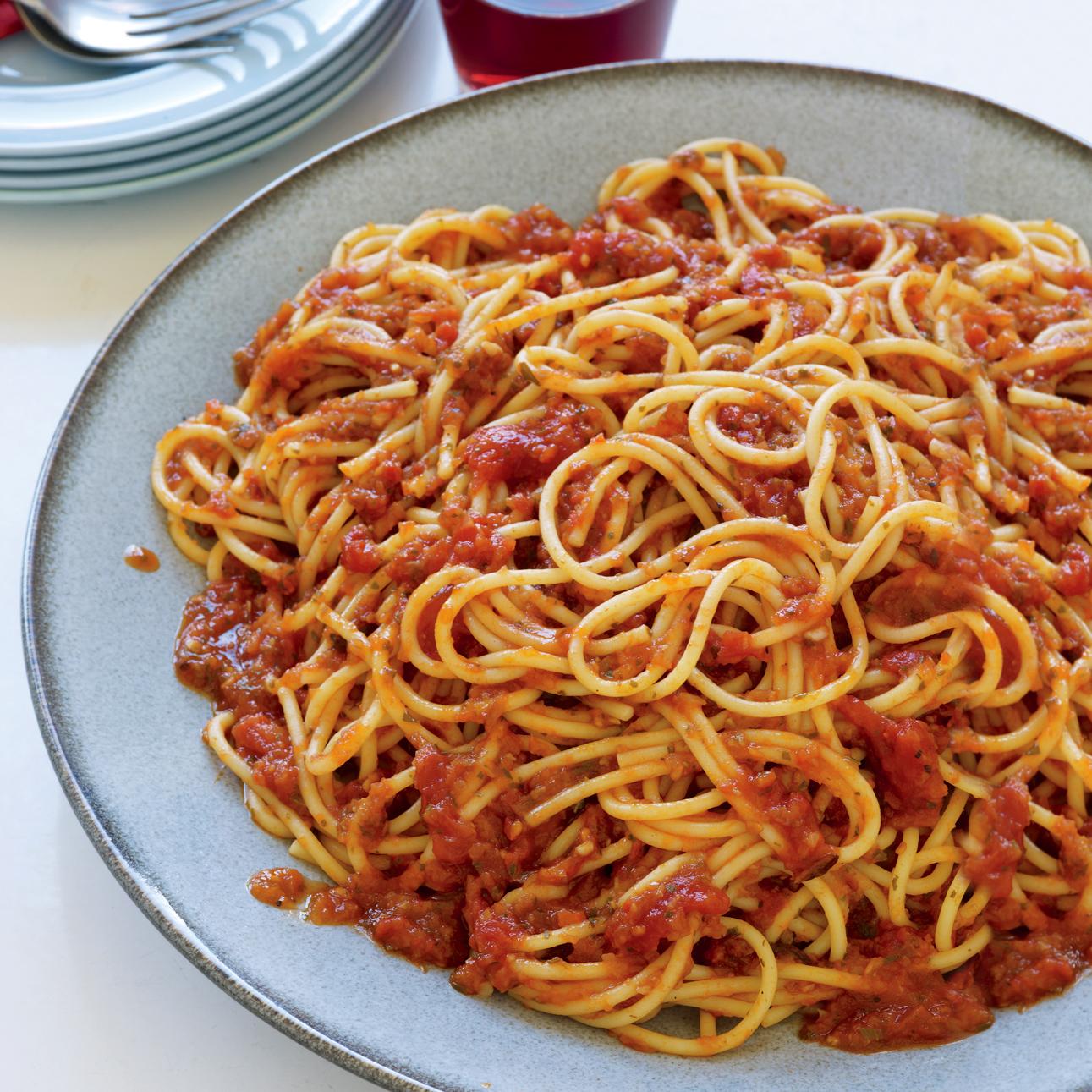Spicy Sicilian Spaghetti with Anchovies