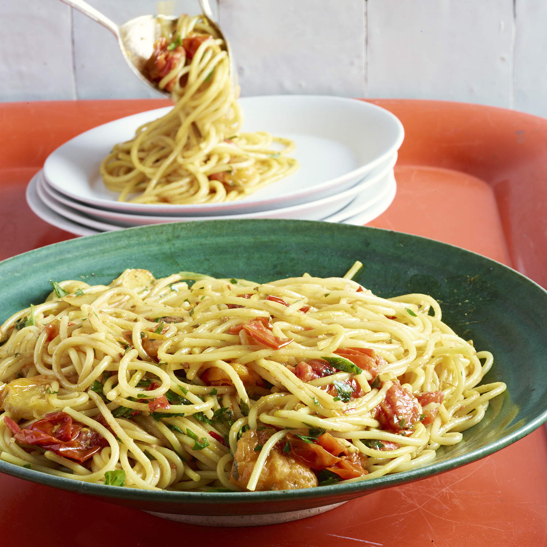 venetian-style spaghetti al arrabbiata