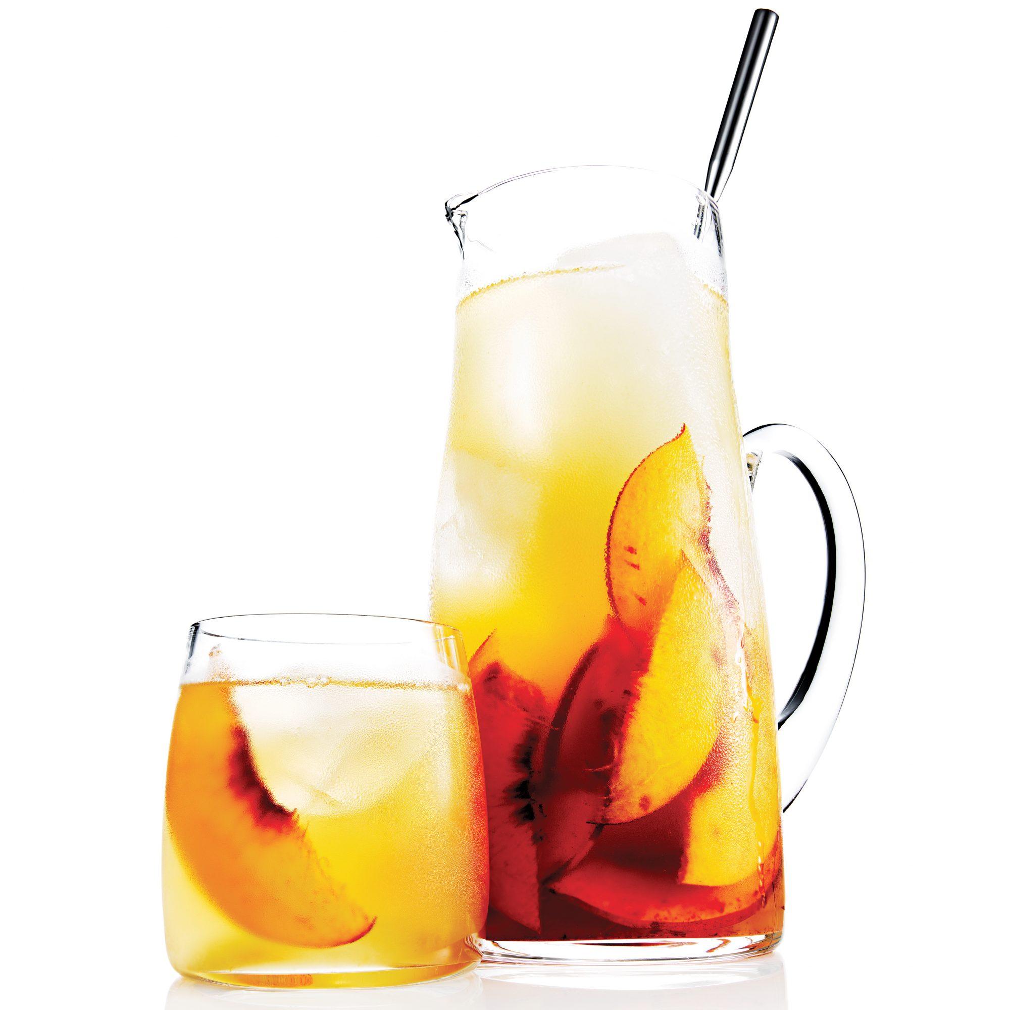 Bourbon and Peach Sweet Tea Punch
