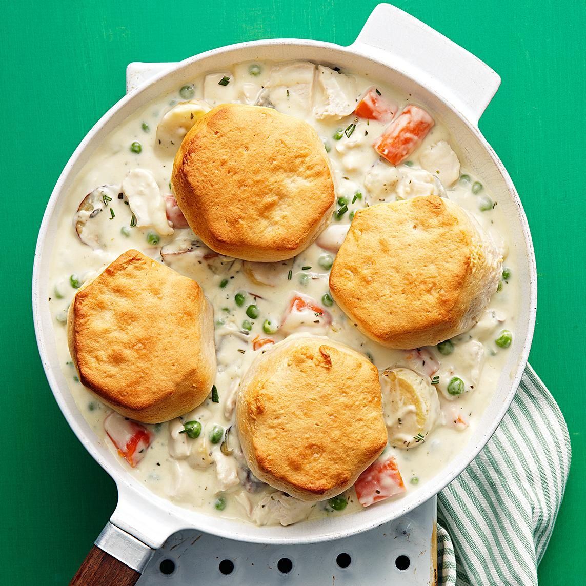 creamy chicken biscuits