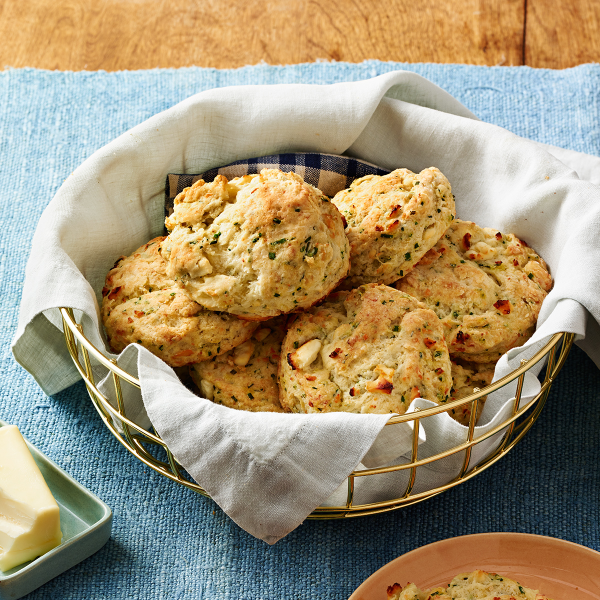 feta and chive biscuits