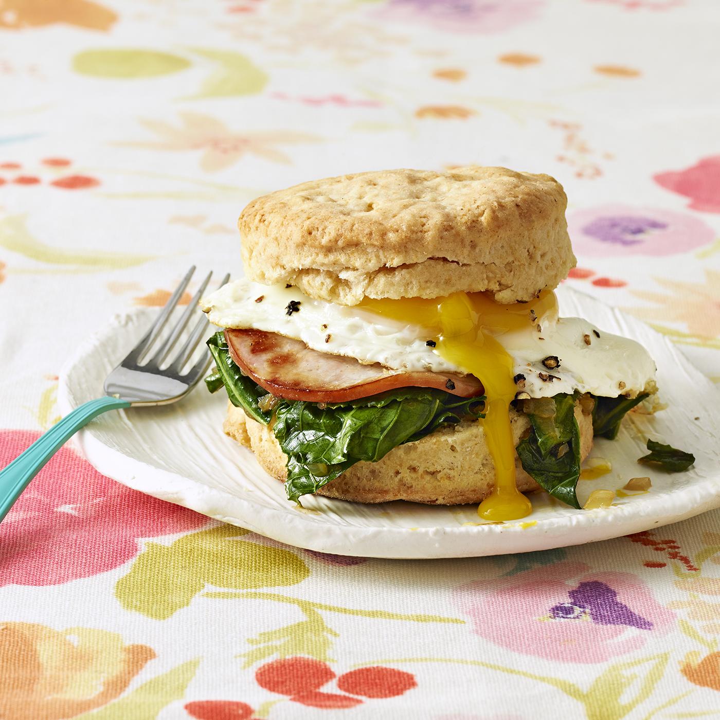 Greens, Eggs & Ham Biscuits