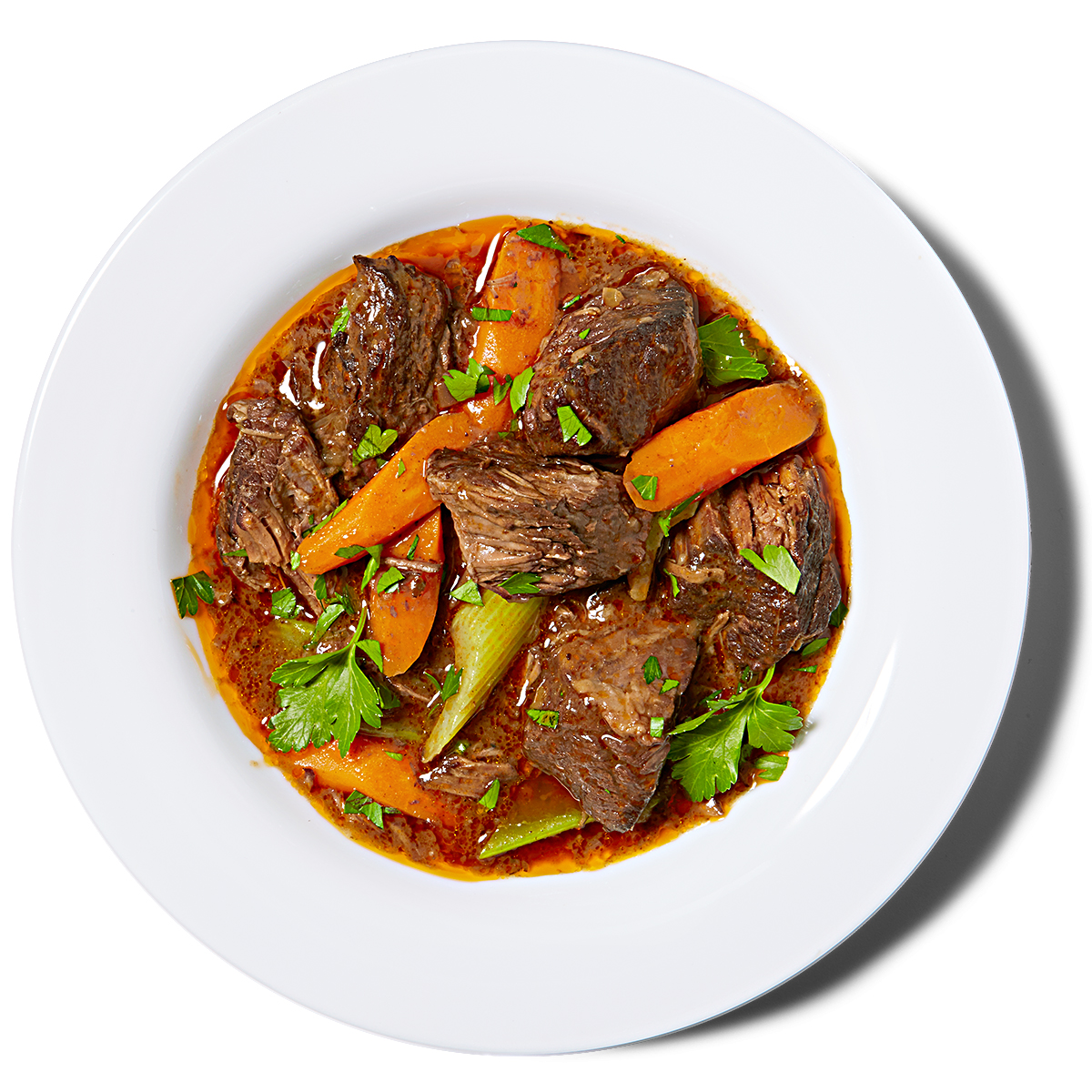 Beef Stew with Red Wine & Carrots