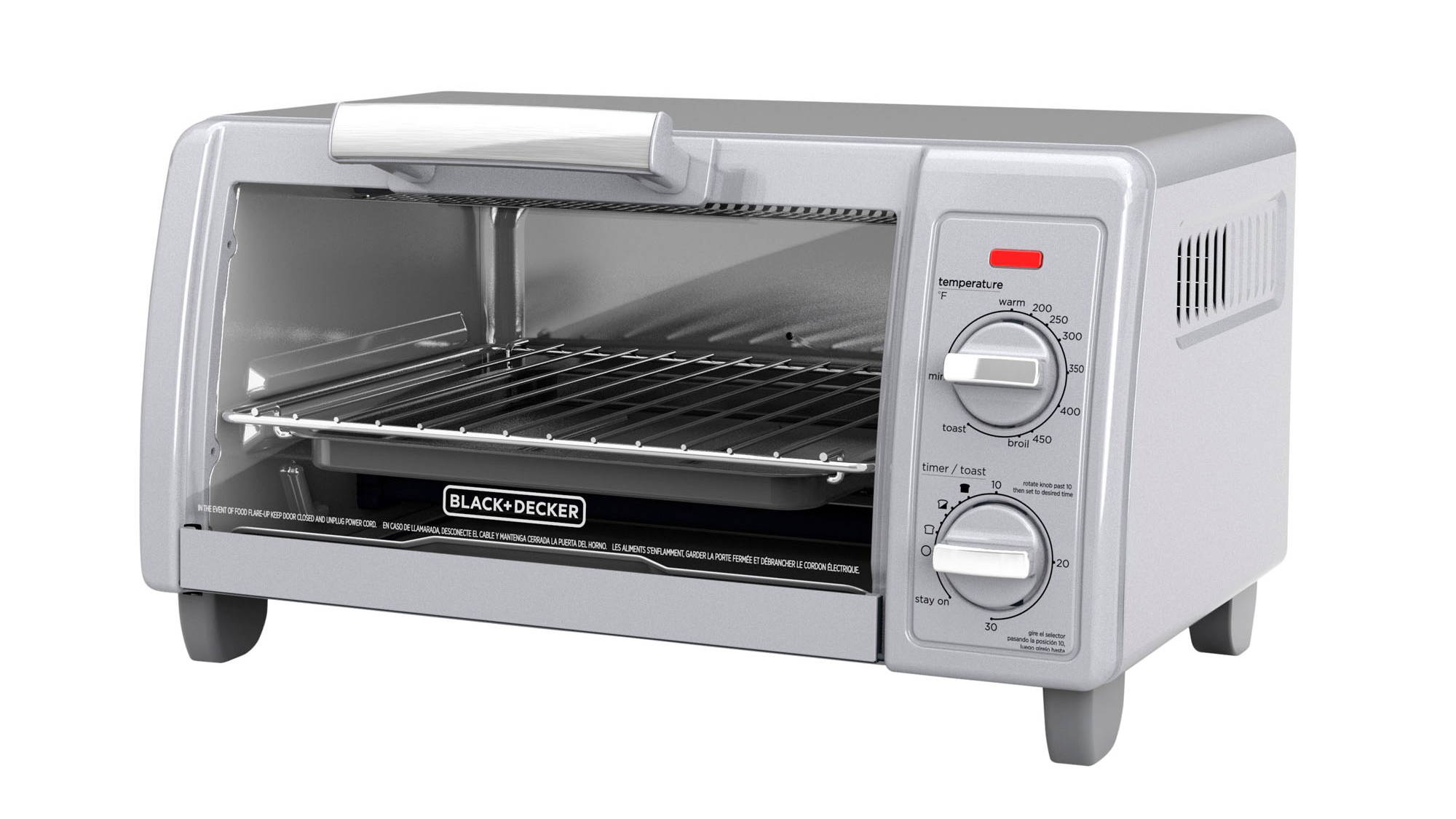 Black + Decker 4-Slice Toaster Oven with Easy Controls