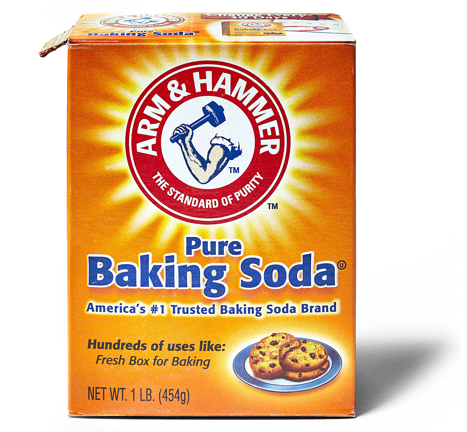 box of Arm & Hammer Pure Baking Soda