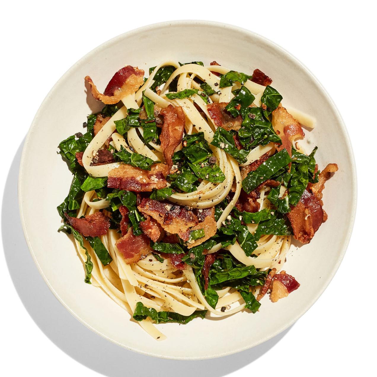 bacon greens pasta