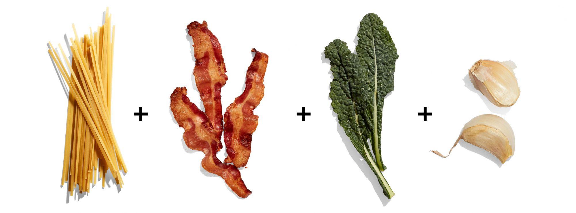 bacon greens pasta ingredient formula
