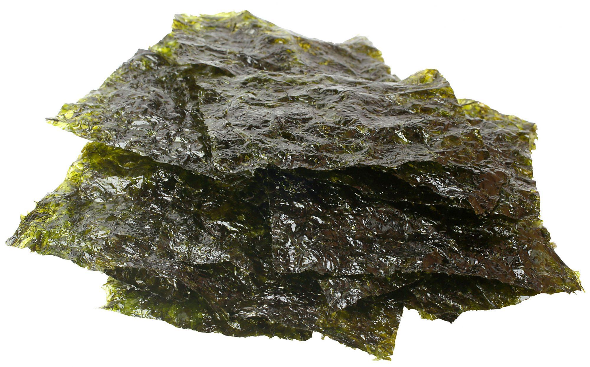 Stack of seaweed squares