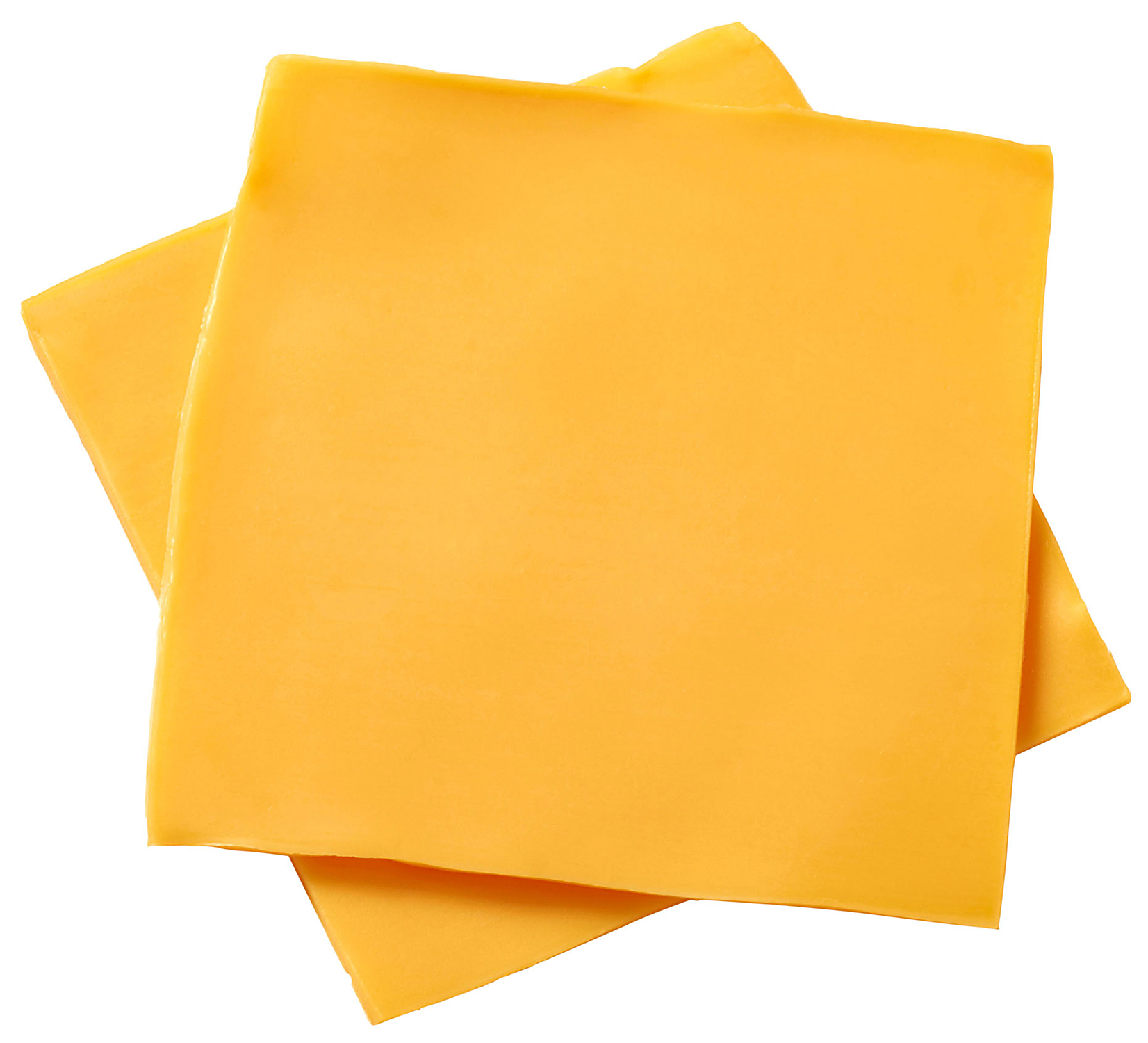 stacked slices of American cheese