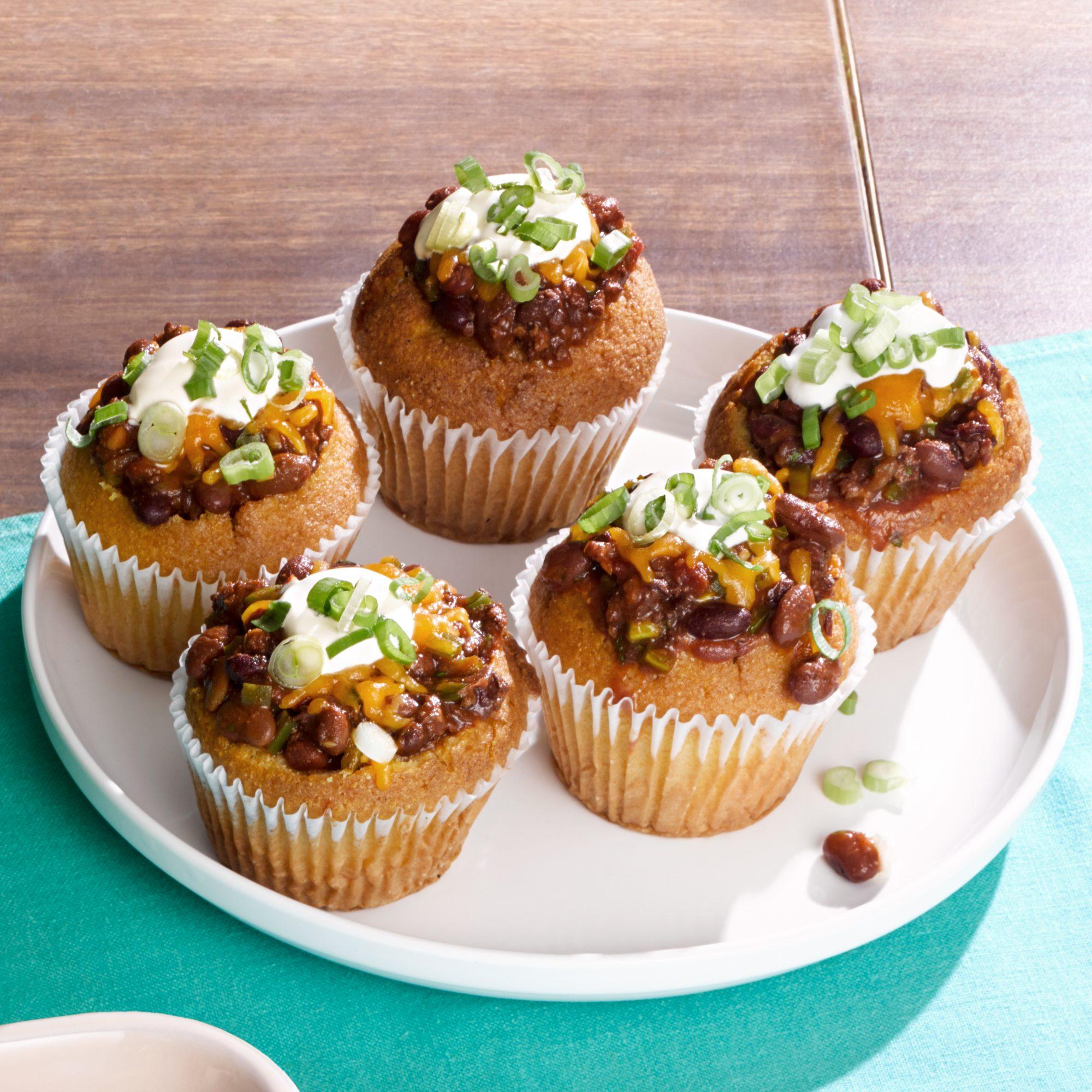sloppy joe chili corn muffins