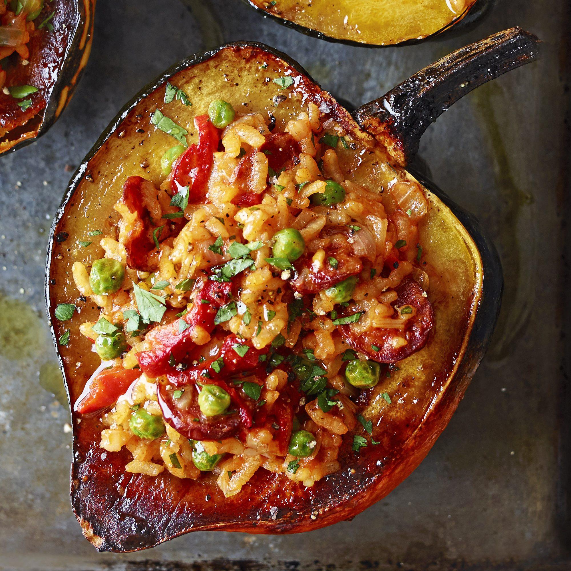 paella-stuffed squash