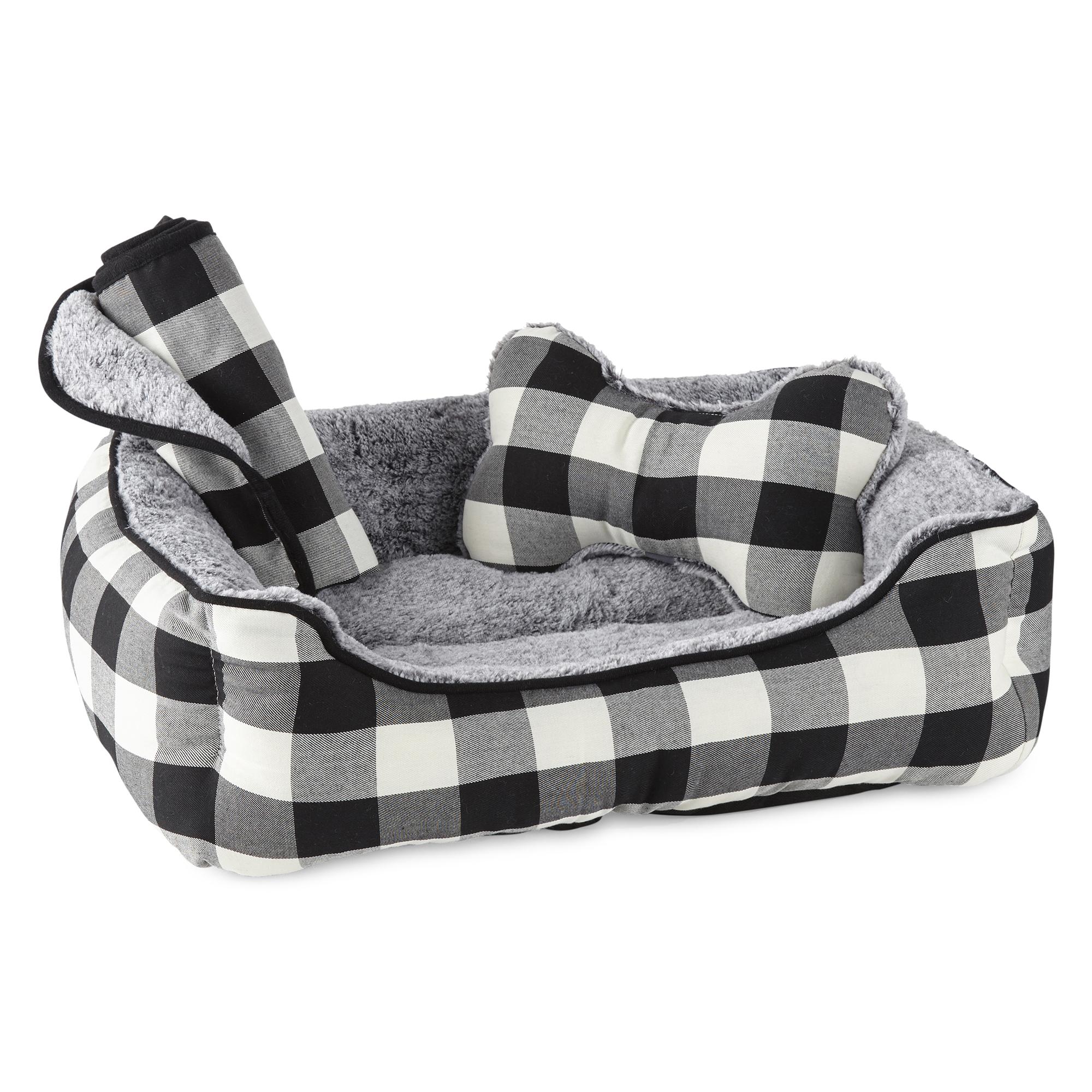 PAW & TAIL Gingham Dog Bed Set