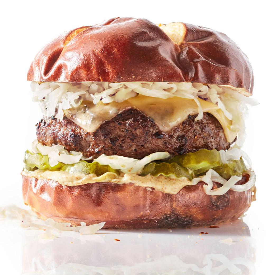 okto burger with cheese