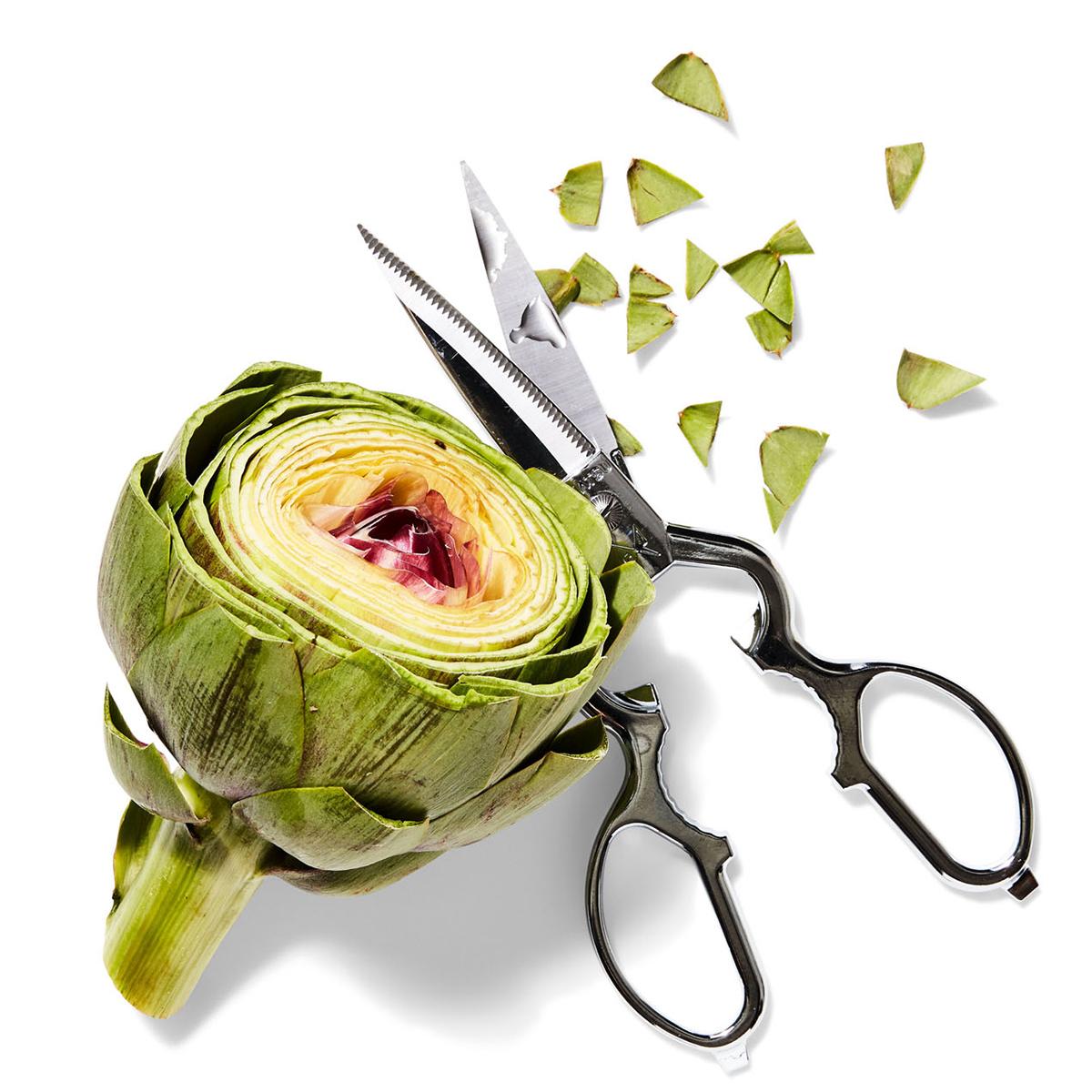 artichoke and scissors