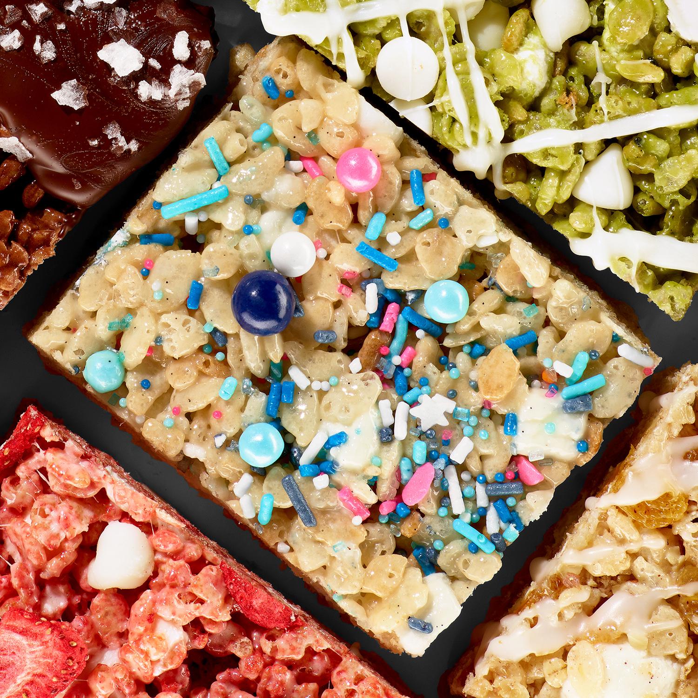 Classy Confetti Crispy Rice Bars